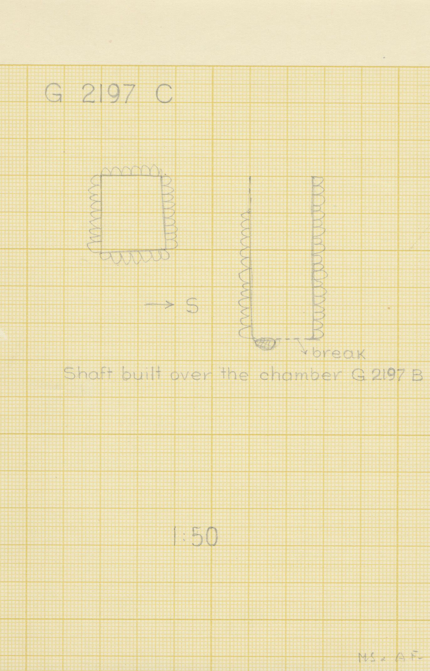 Maps and plans: G 2197, Shaft C