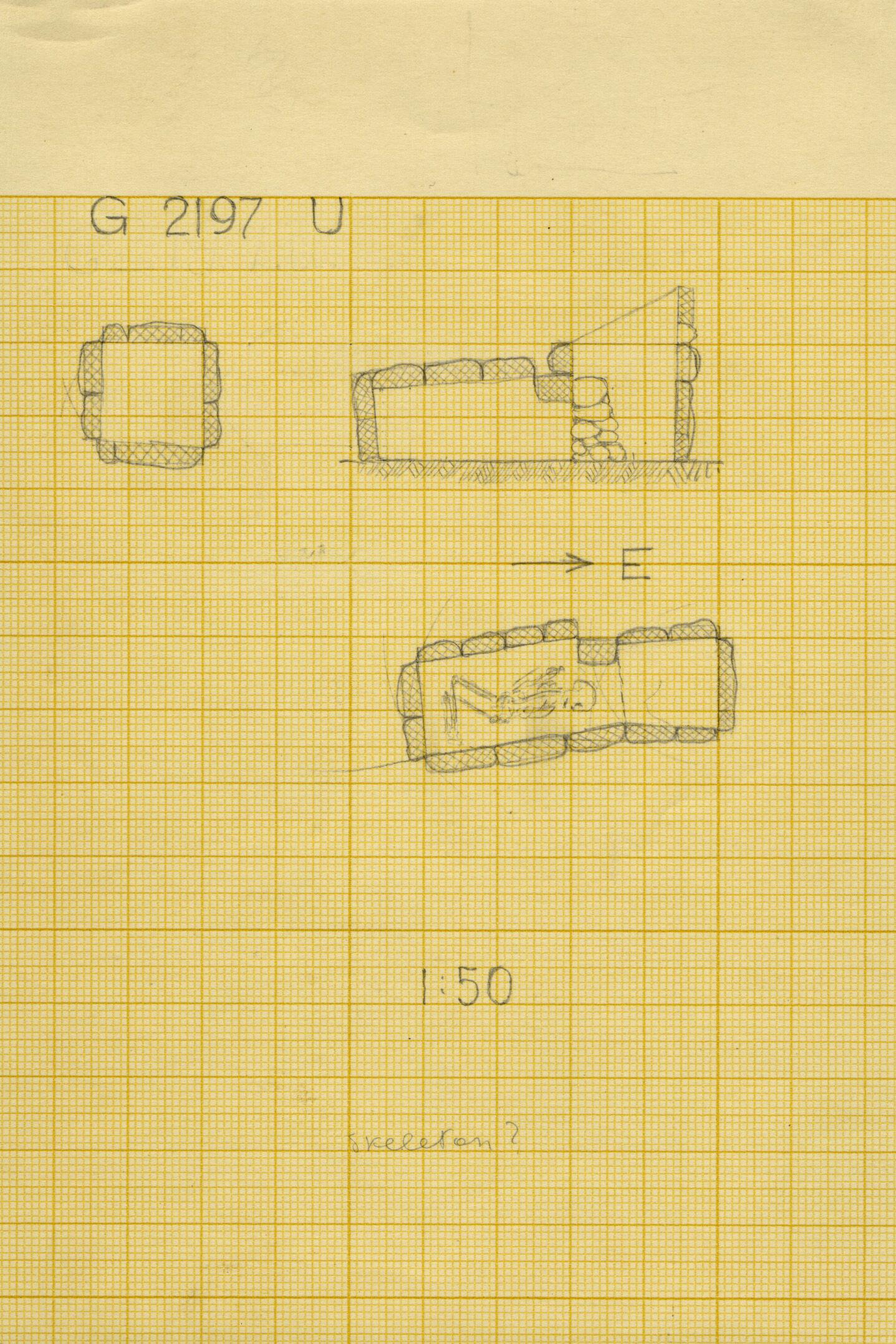 Maps and plans: G 2197, Shaft U