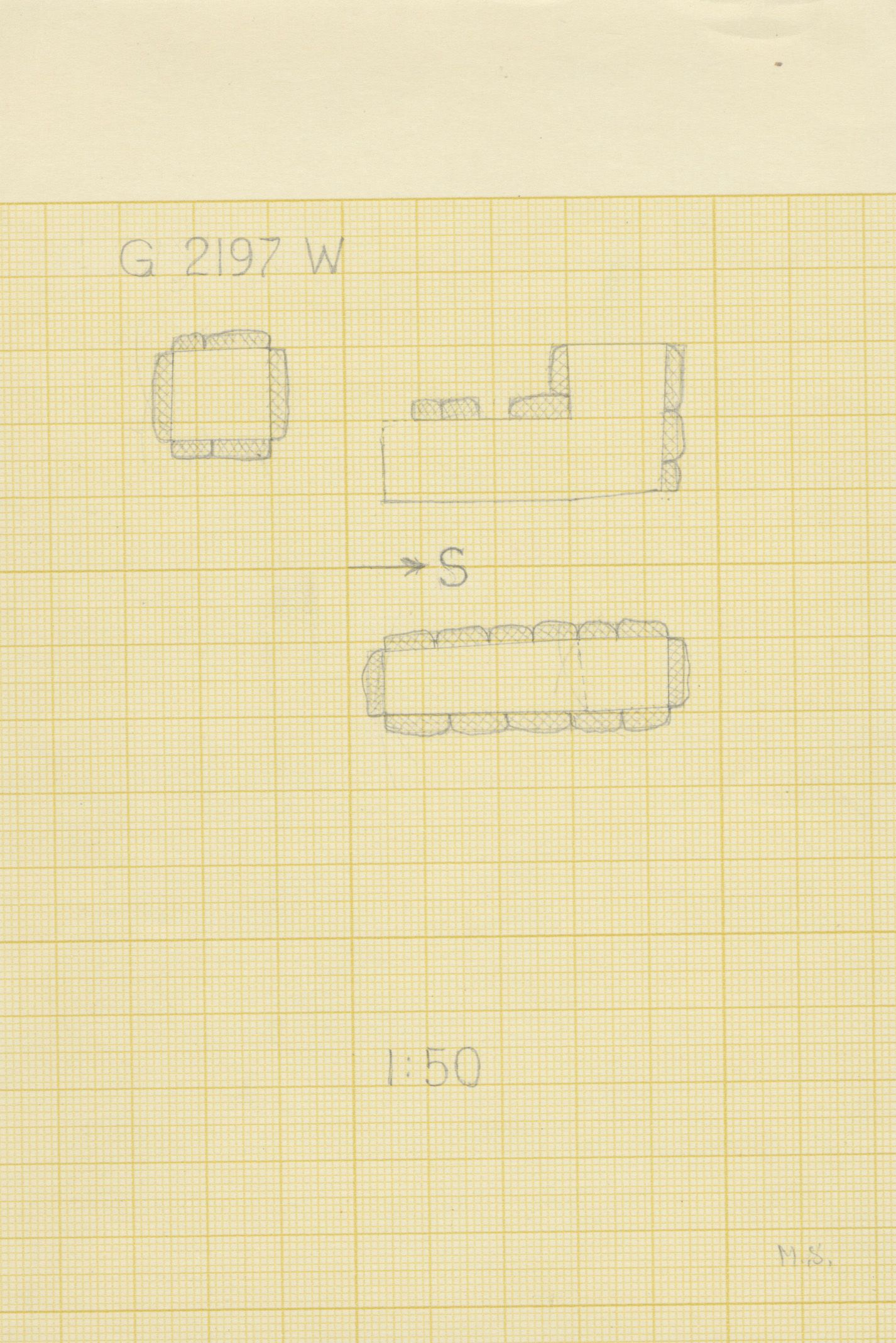 Maps and plans: G 2197, Shaft W