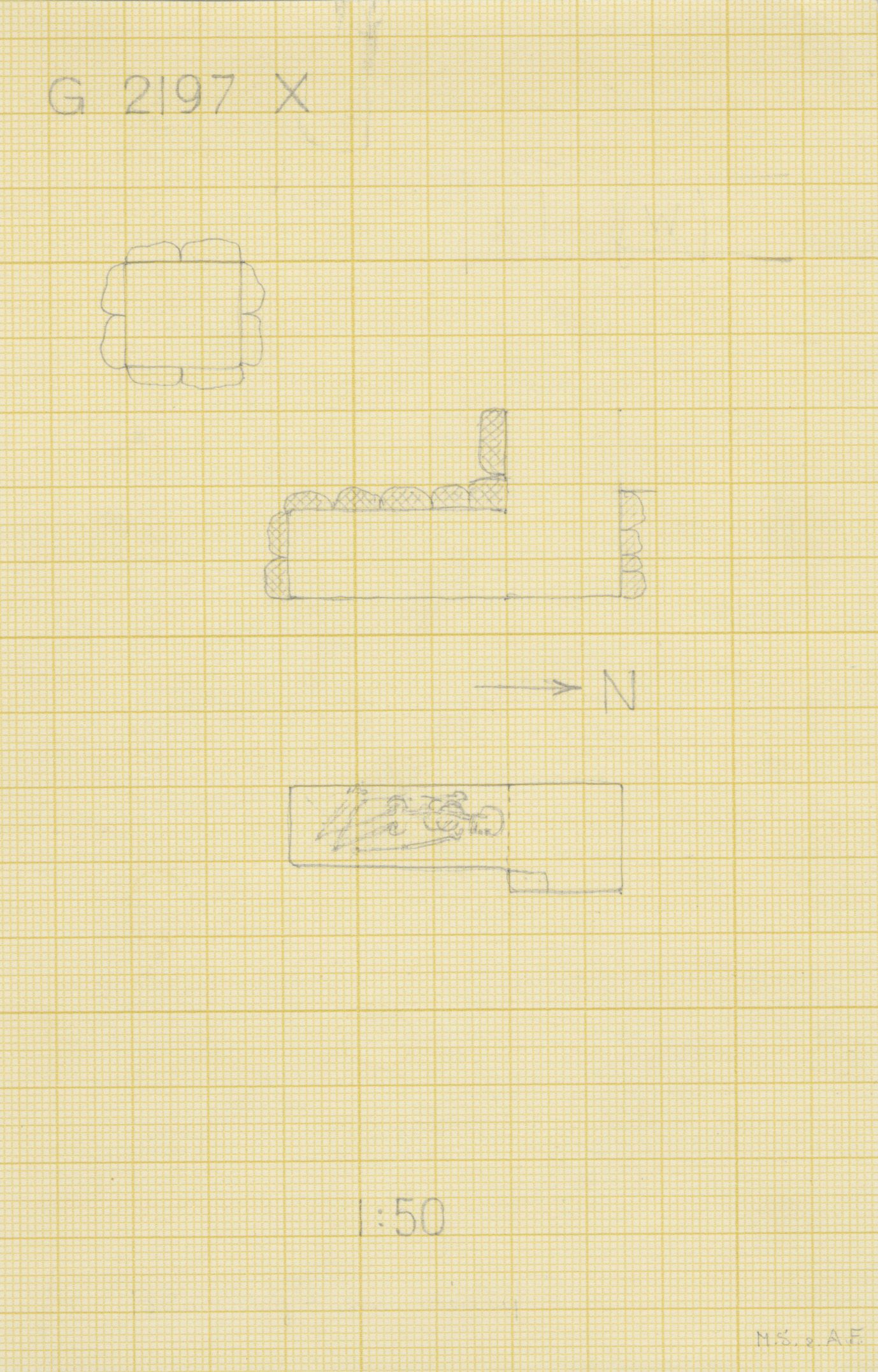 Maps and plans: G 2197, Shaft X