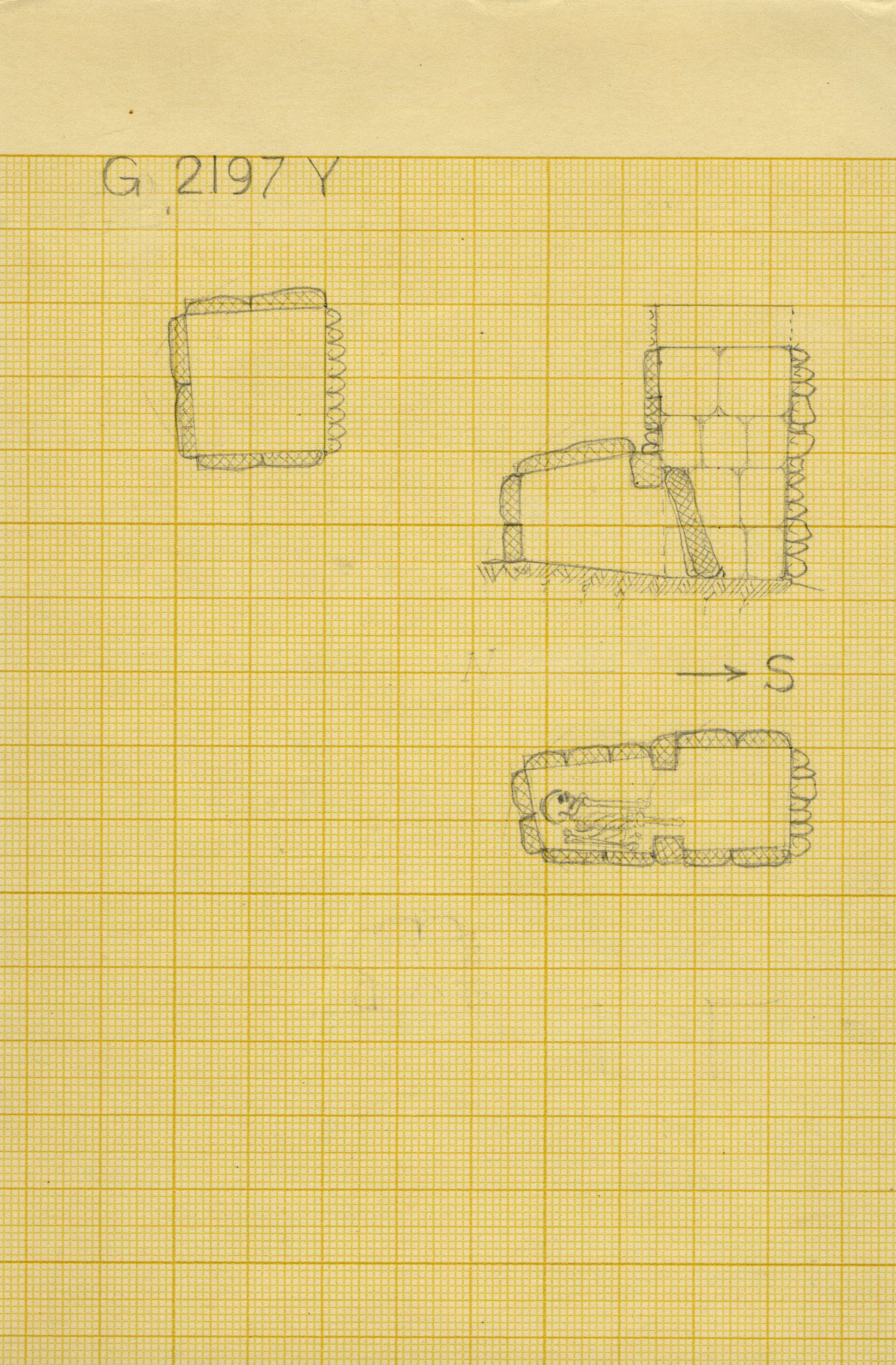 Maps and plans: G 2197, Shaft Y