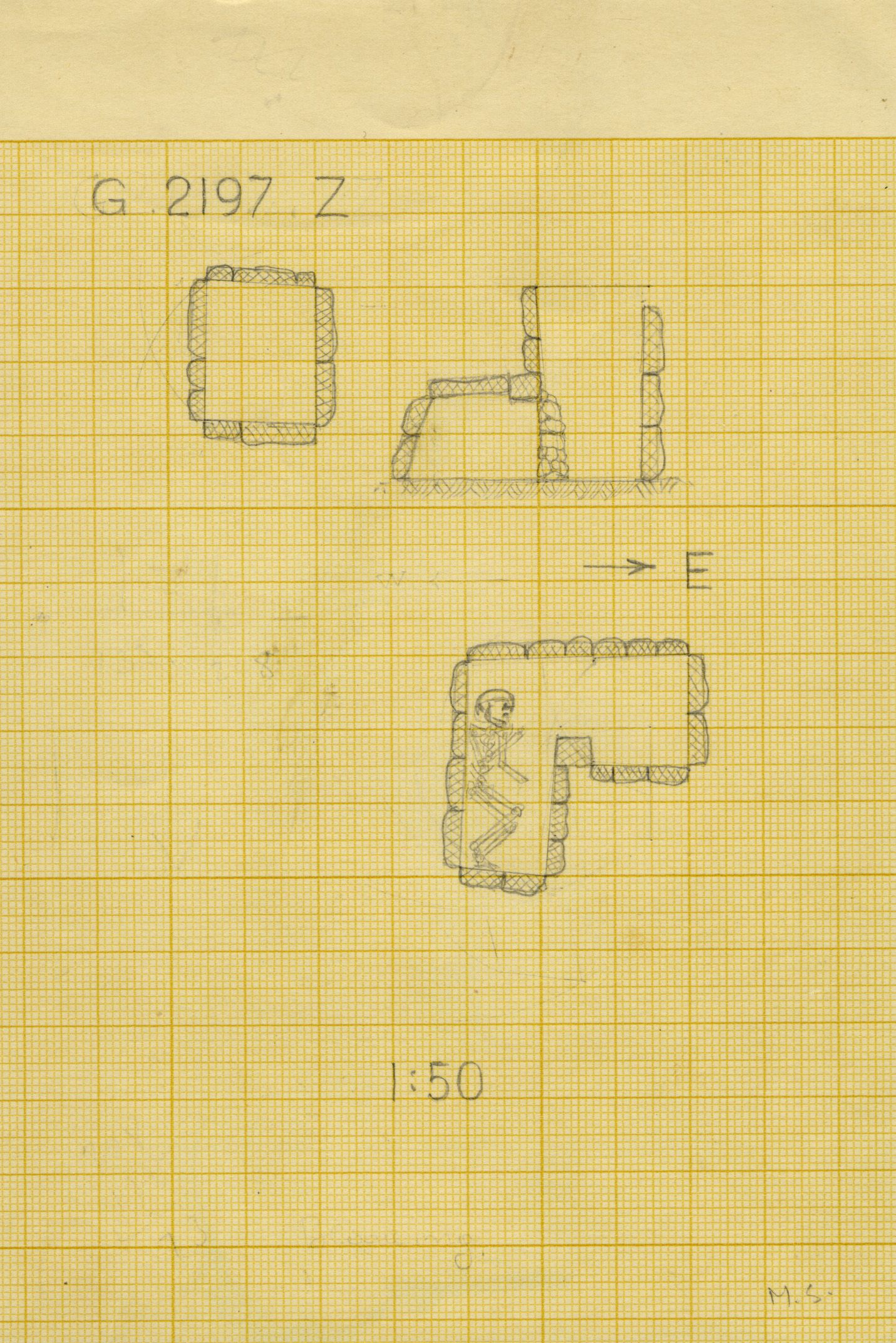 Maps and plans: G 2197, Shaft Z