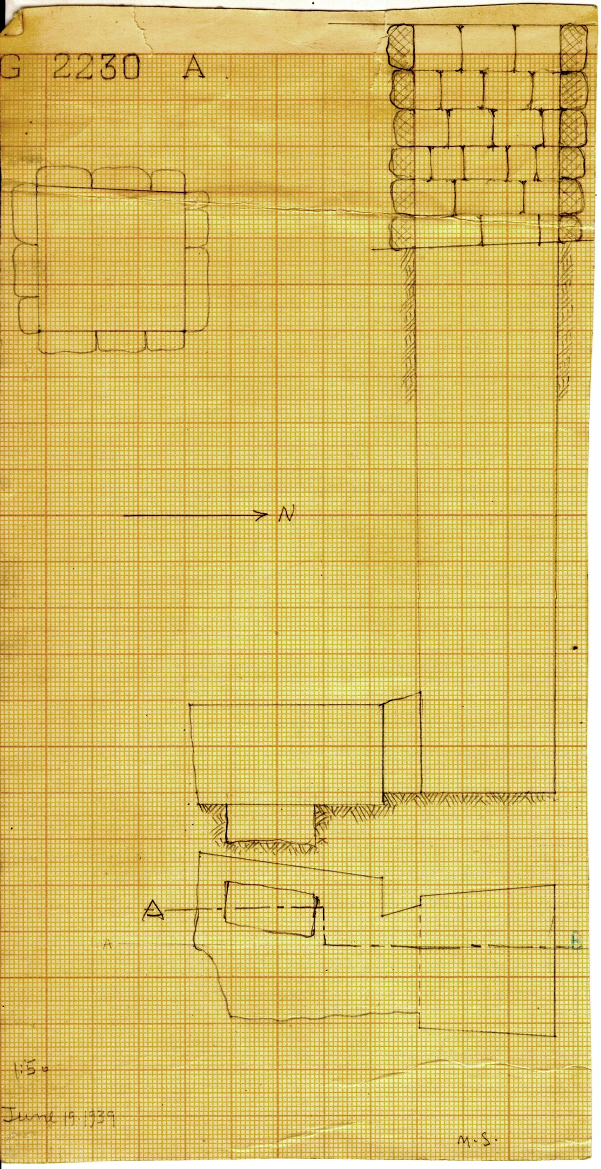 Maps and plans: G 2230+2231: G 2230, Shaft A