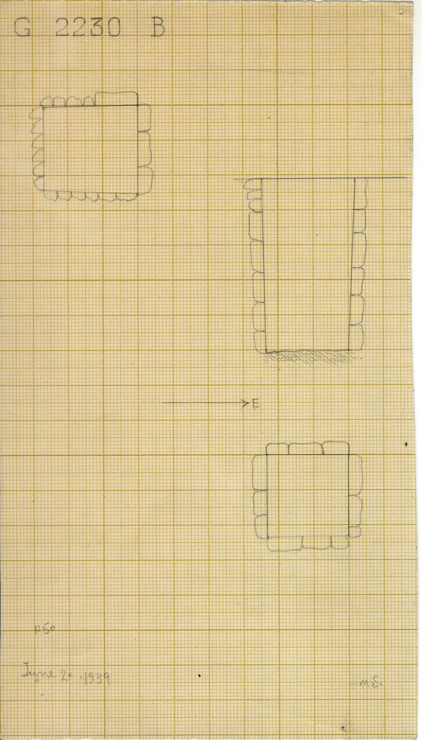 Maps and plans: G 2230+2231: G 2230, Shaft B