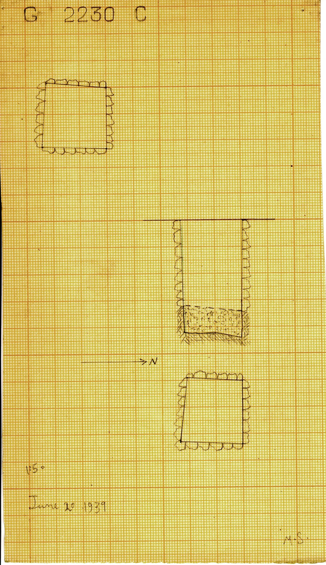 Maps and plans: G 2230+2231: G 2230, Shaft C