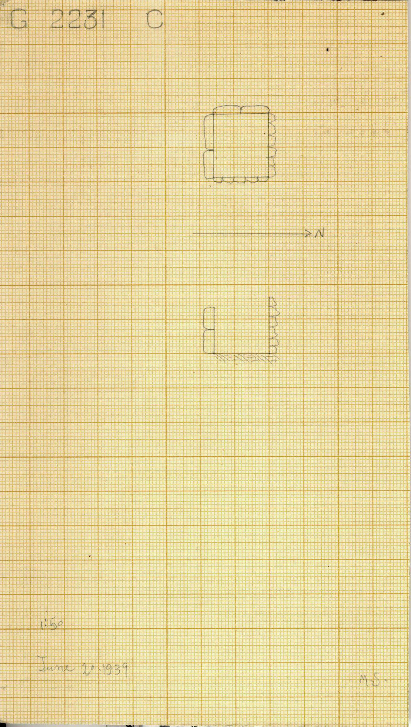 Maps and plans: G 2230+2231: G 2231, Shaft C