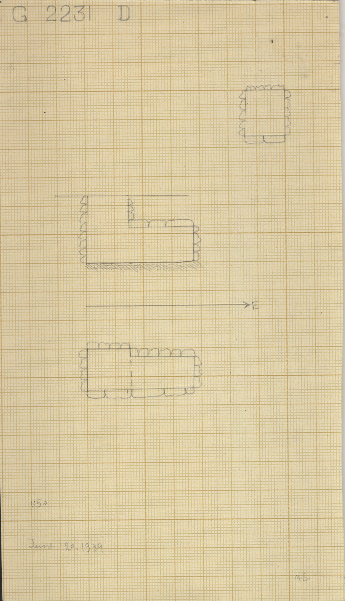 Maps and plans: G 2230+2231: G 2231, Shaft D