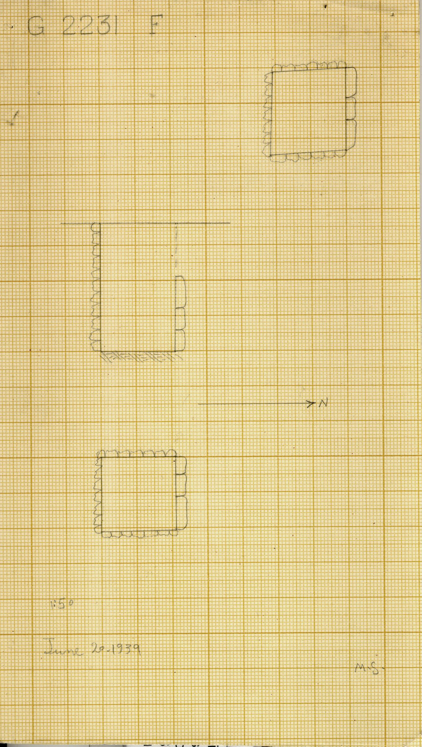 Maps and plans: G 2230+2231: G 2231, Shaft F