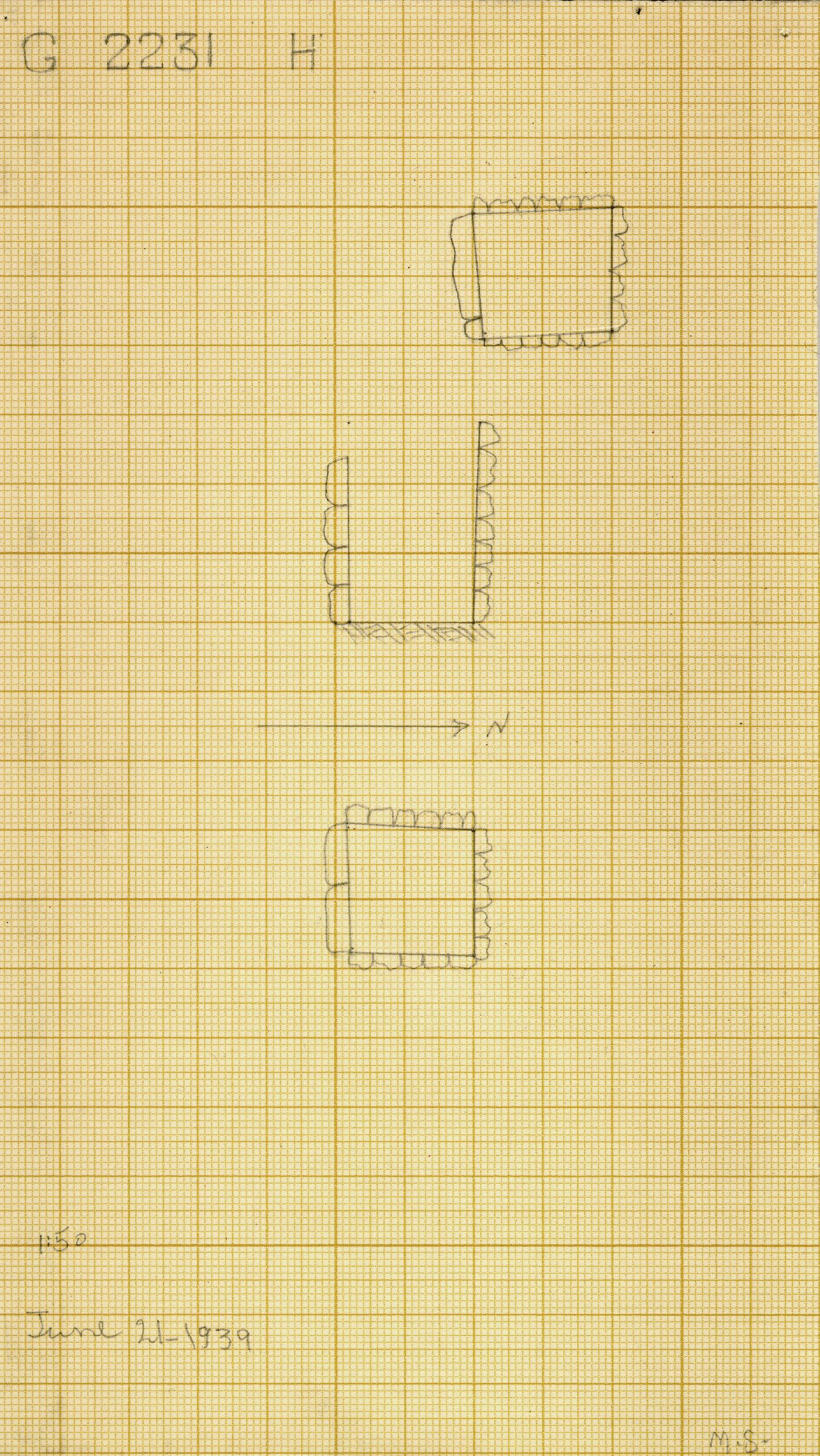 Maps and plans: G 2230+2231: G 2231, Shaft H
