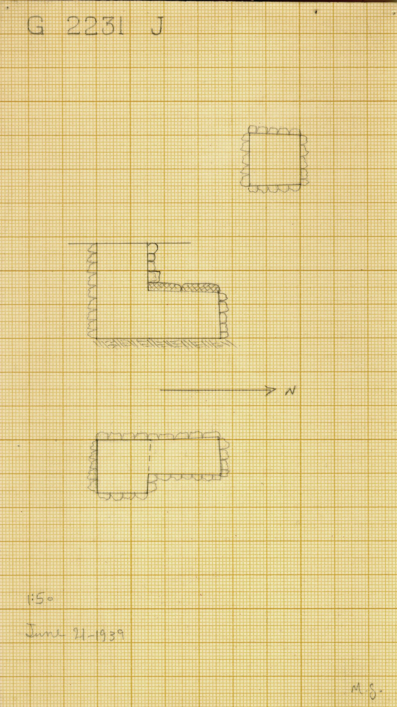 Maps and plans: G 2230+2231: G 2231, Shaft J
