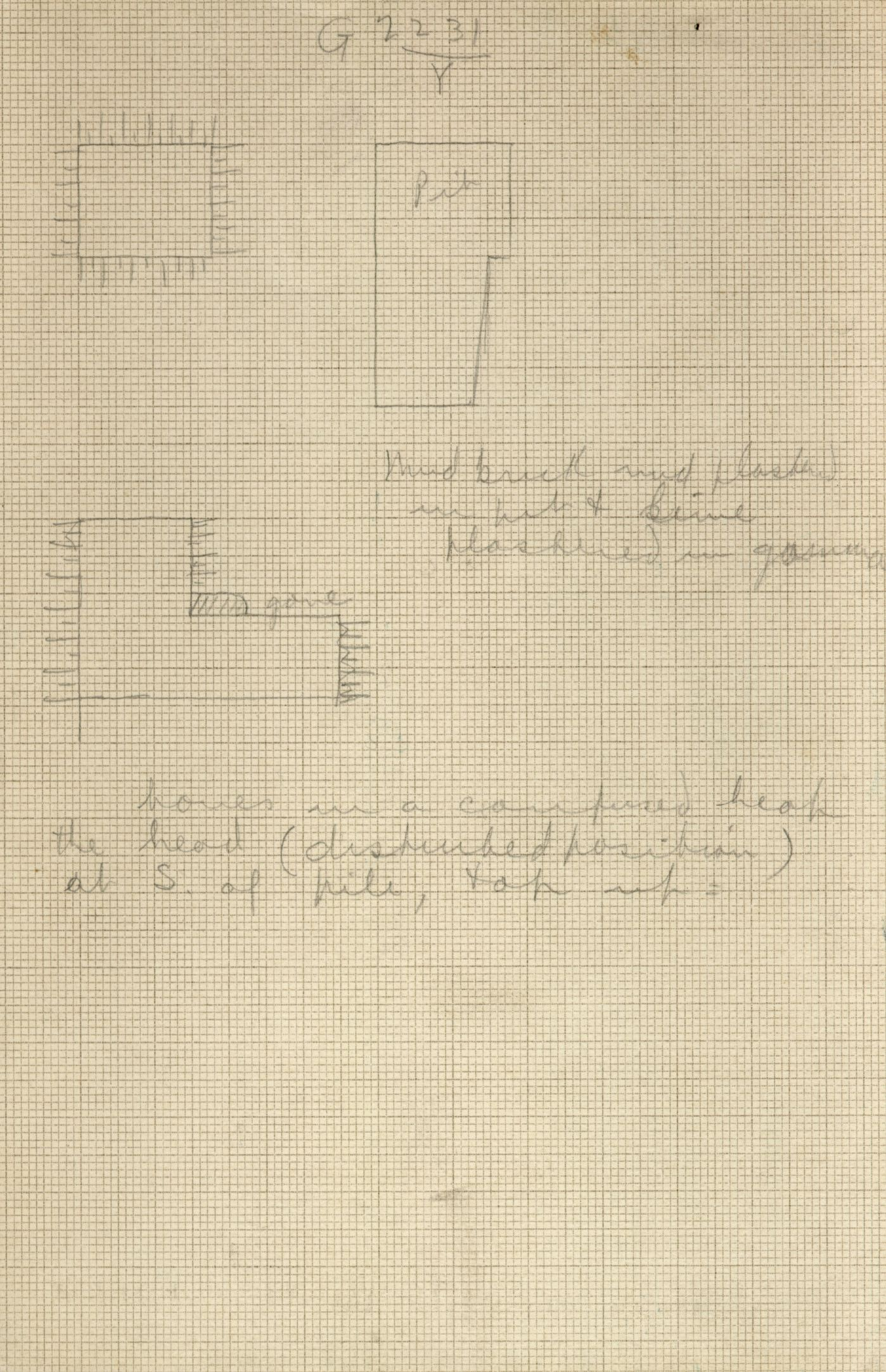 Maps and plans: G 2230+2231: G 2231, Shaft Y