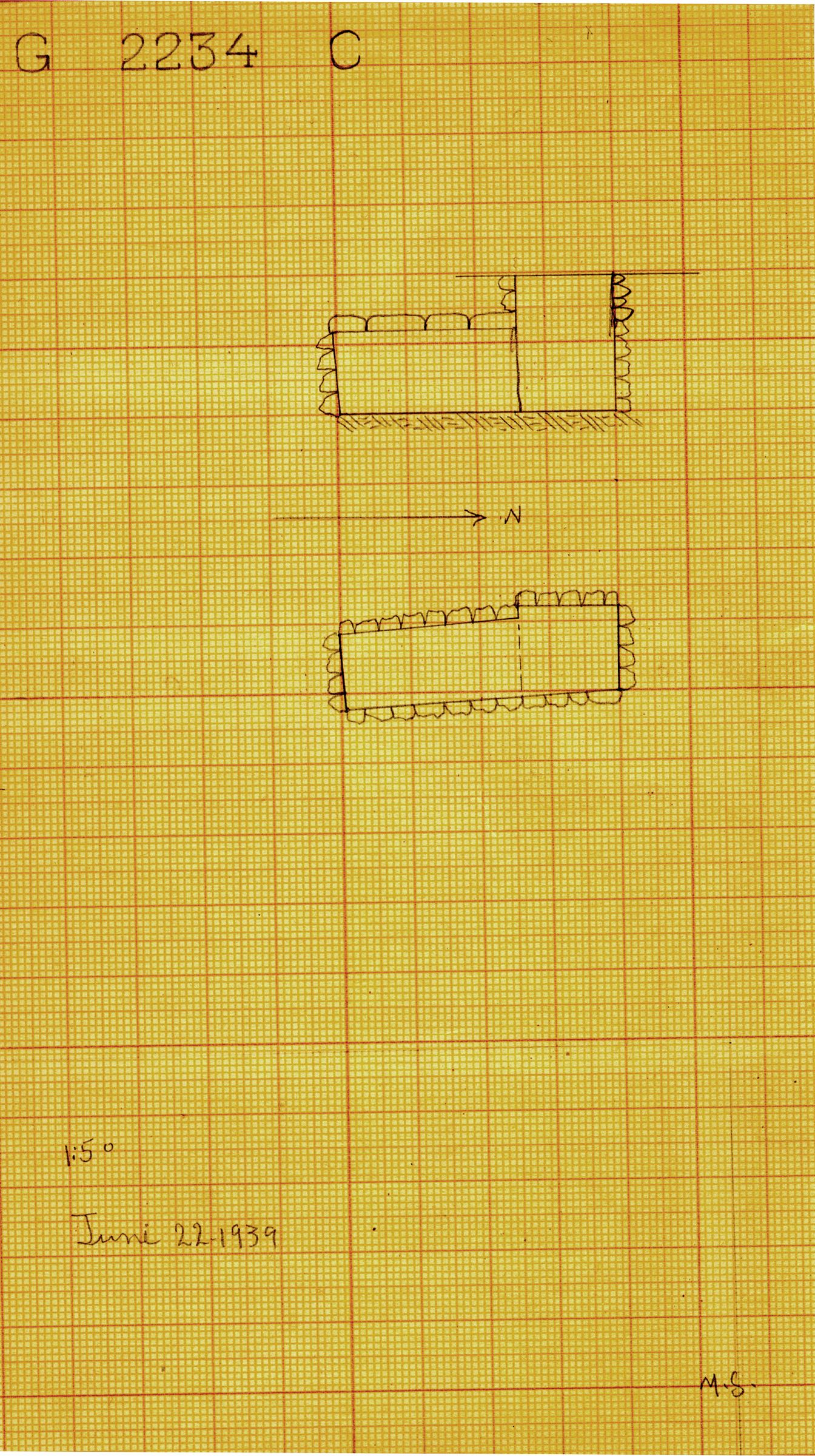Maps and plans: G 2234, Shaft C