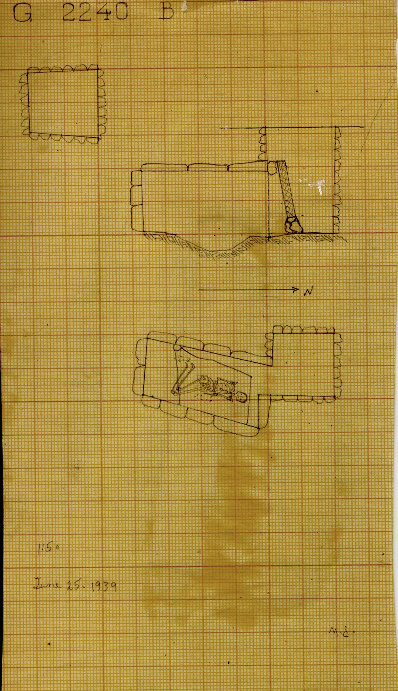 Maps and plans: G 2240, Shaft B