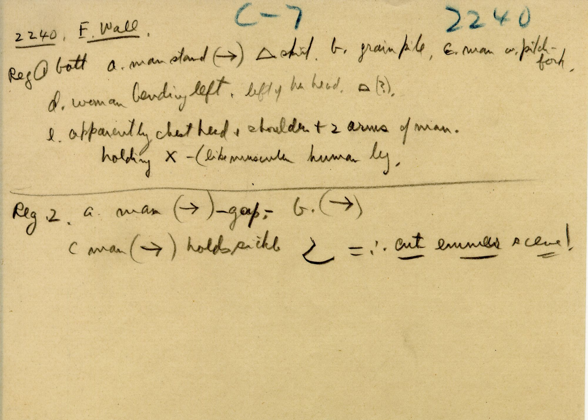 Notes: G 2240, Notes (3)