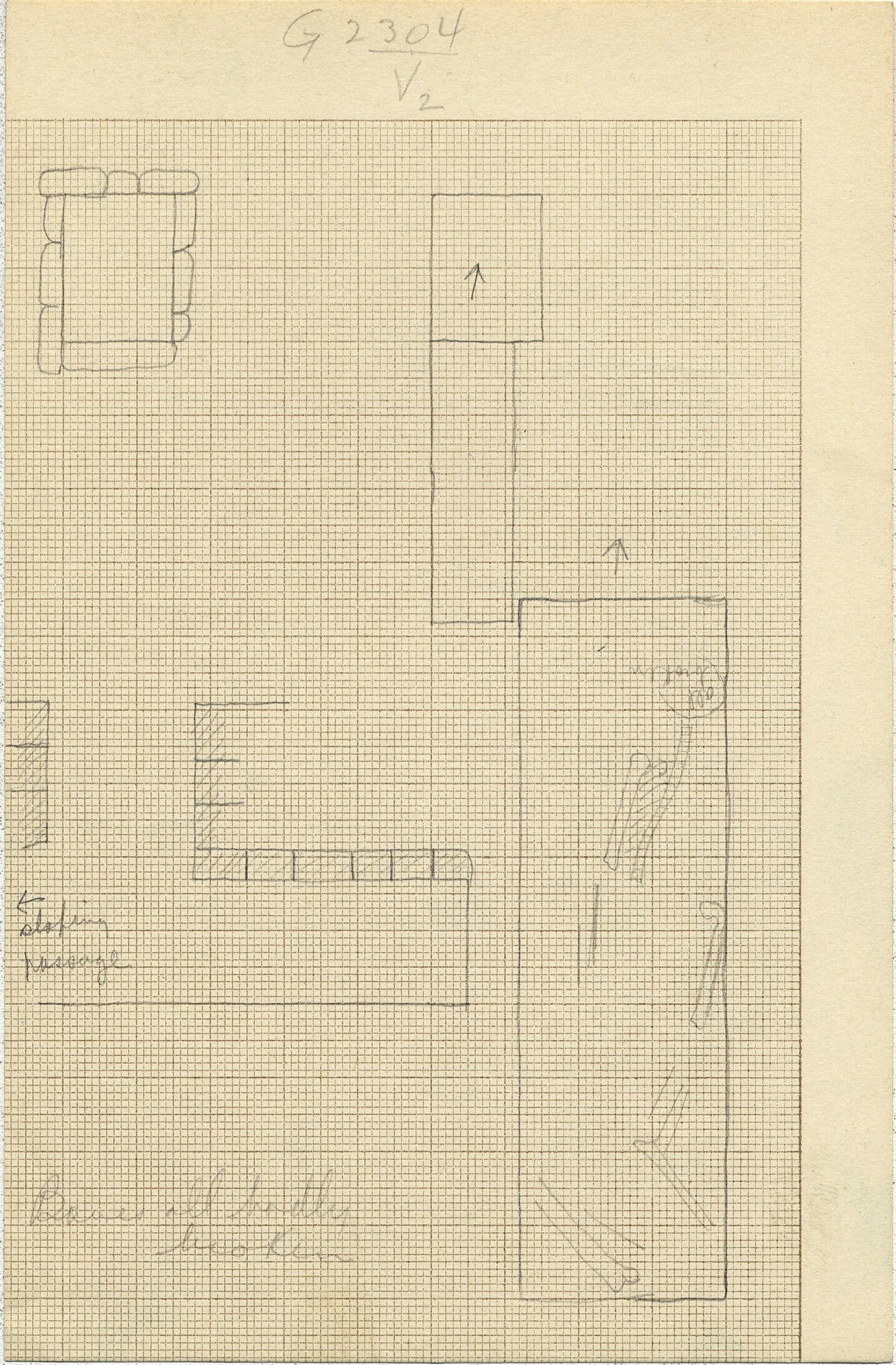 Maps and plans: G 2304, Shaft V1