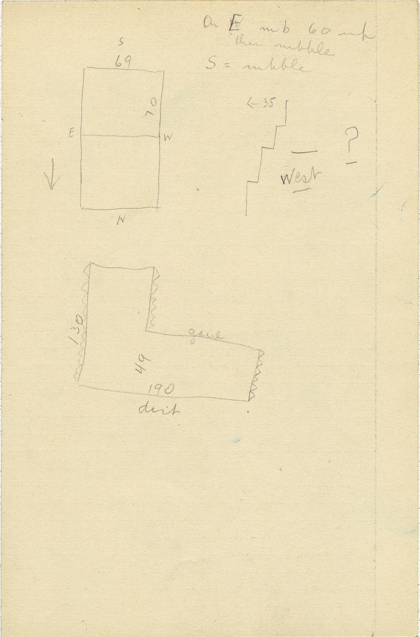 Maps and plans: G 2311, Shaft A, notes