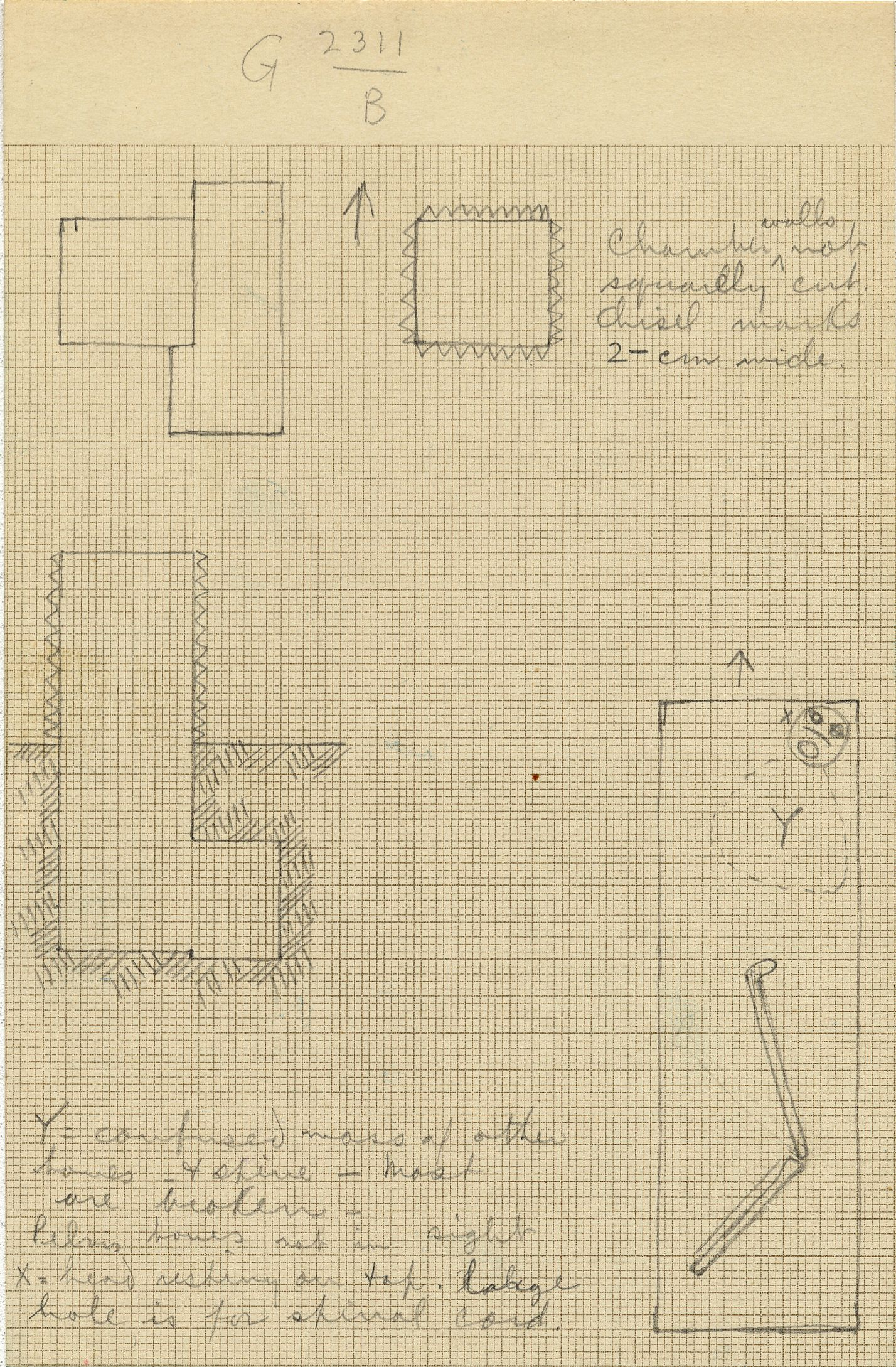 Maps and plans: G 2311, Shaft B