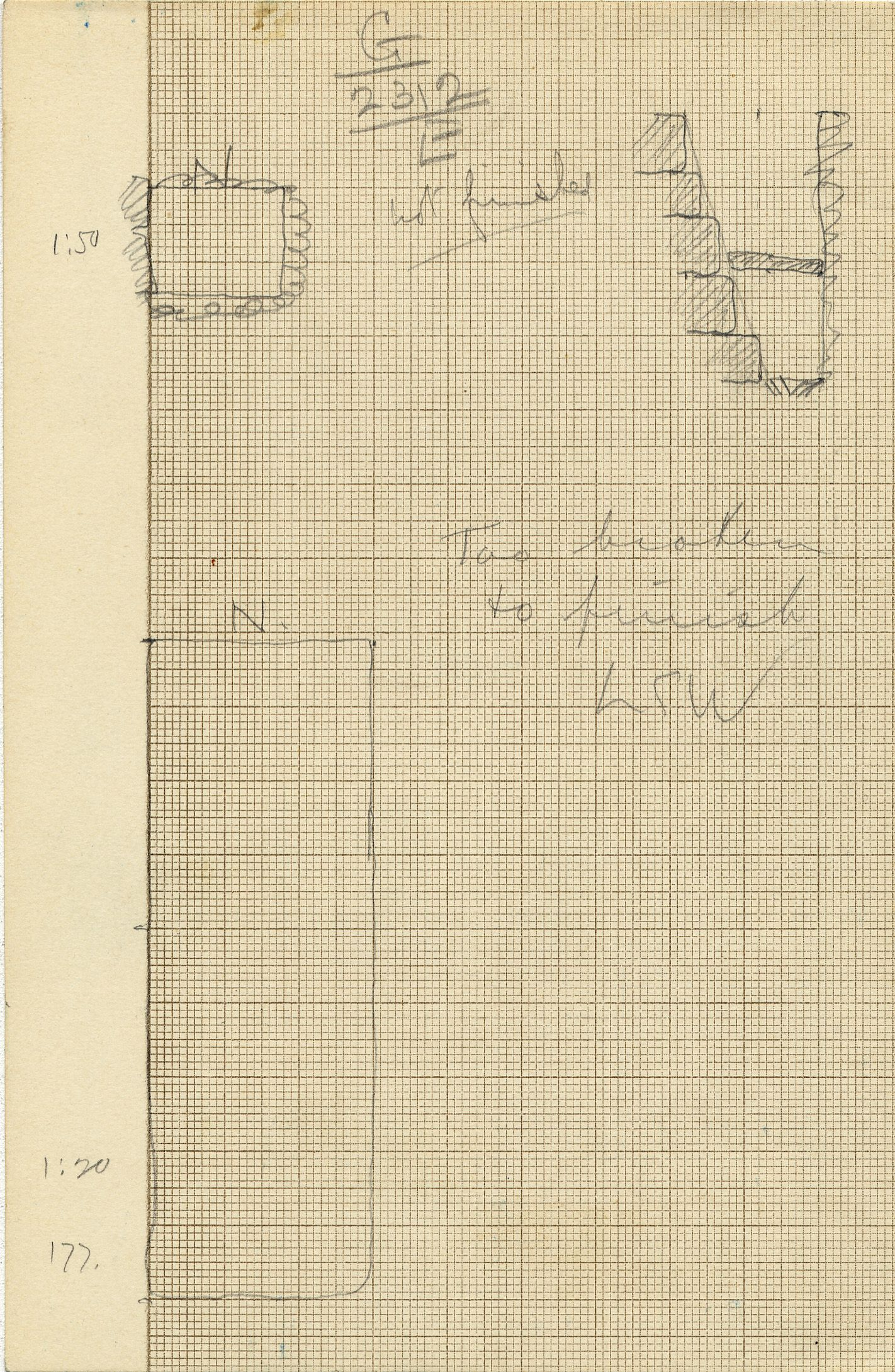Maps and plans: G 2312, Shaft E