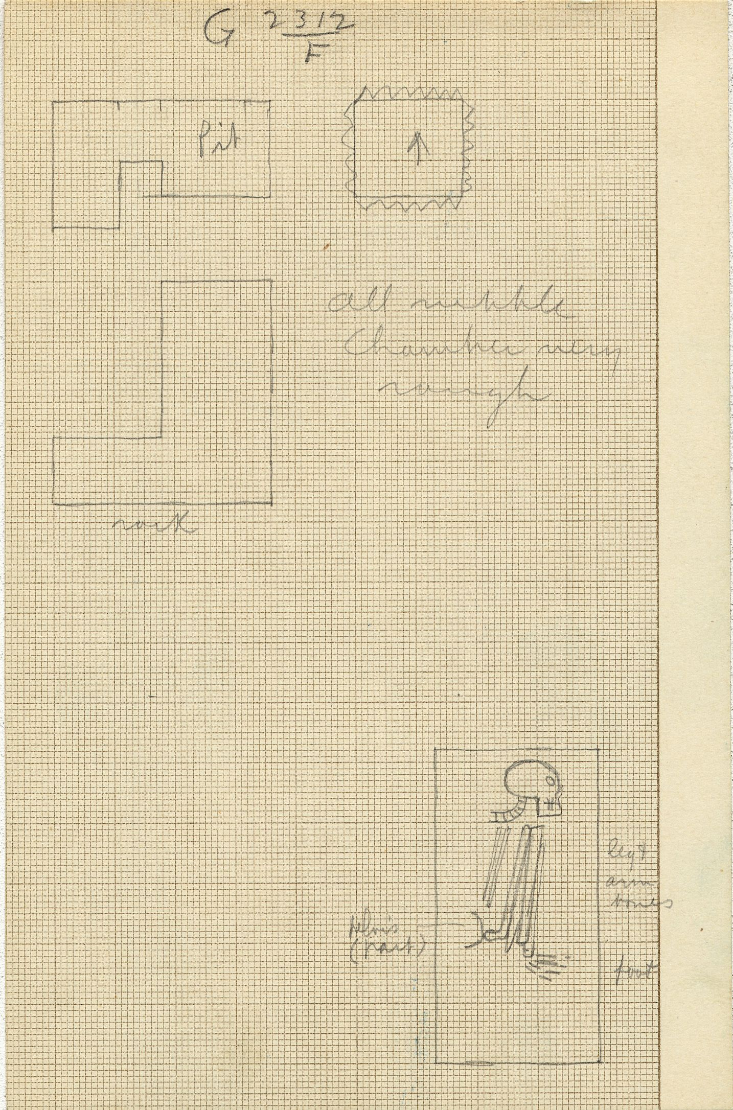 Maps and plans: G 2312, Shaft F