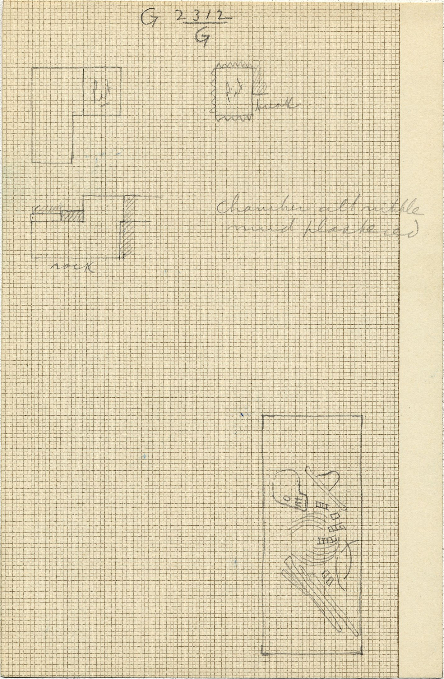 Maps and plans: G 2312, Shaft G