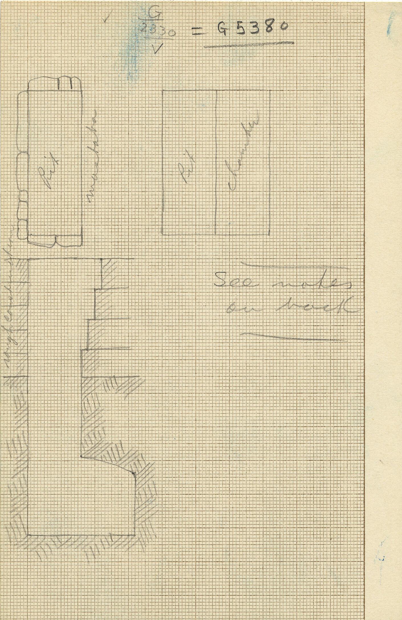 Maps and plans: G 2330 = G 5380, Shaft V