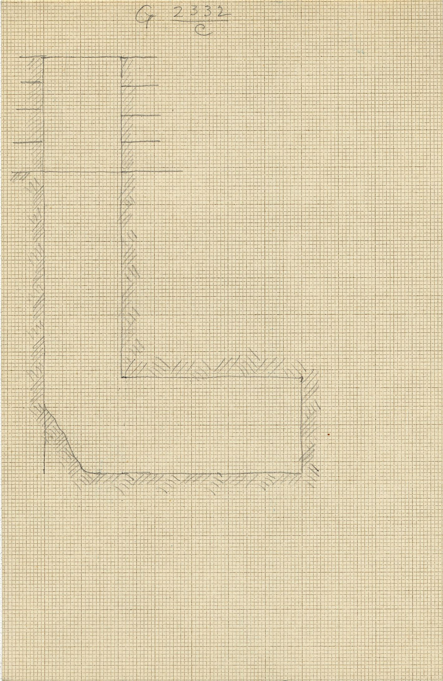 Maps and plans: G 2332, Shaft C