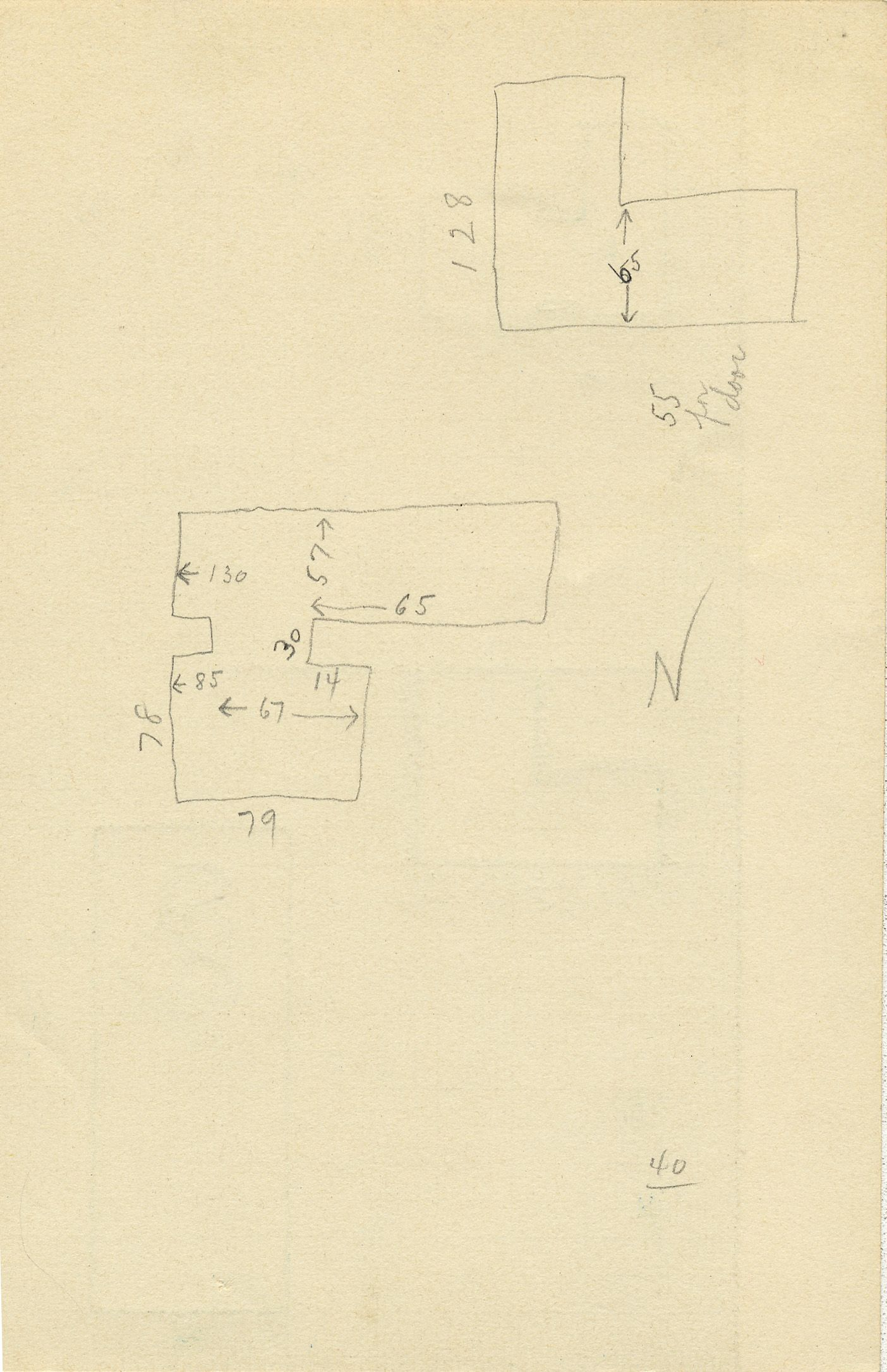 Maps and plans: G 2336, Shaft A, notes