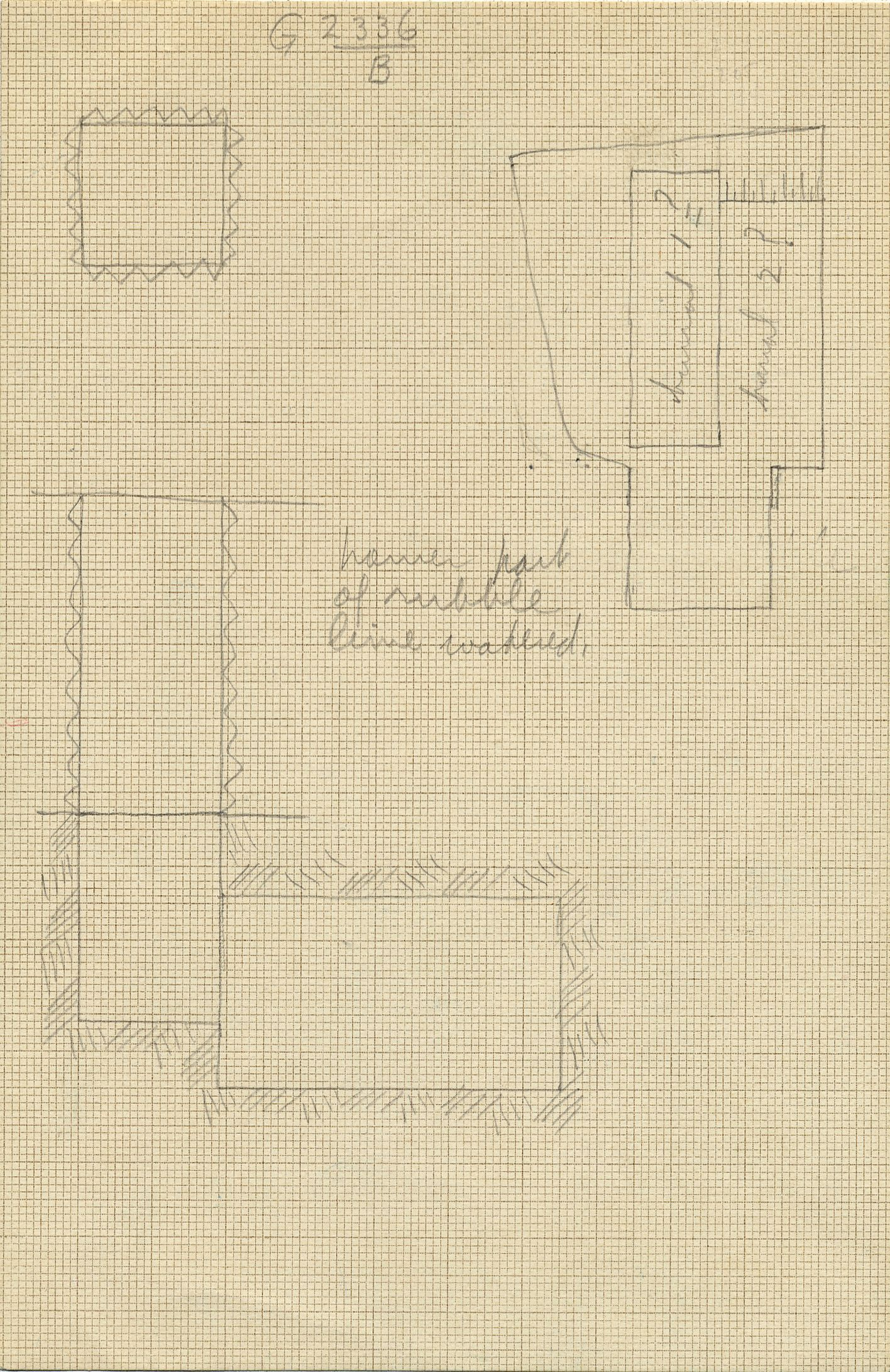 Maps and plans: G 2336, Shaft B