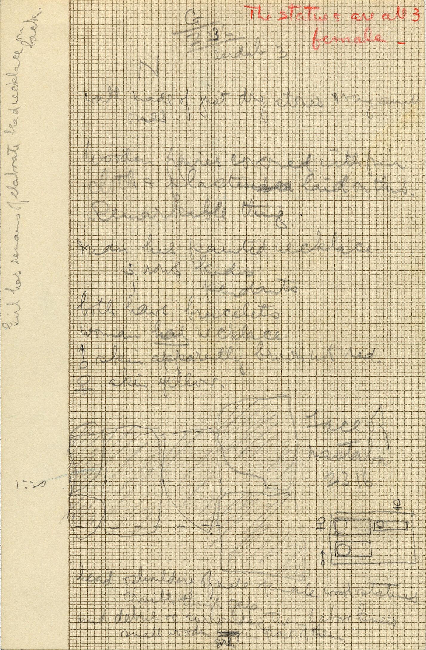 Notes: G 2336, Serdab 3