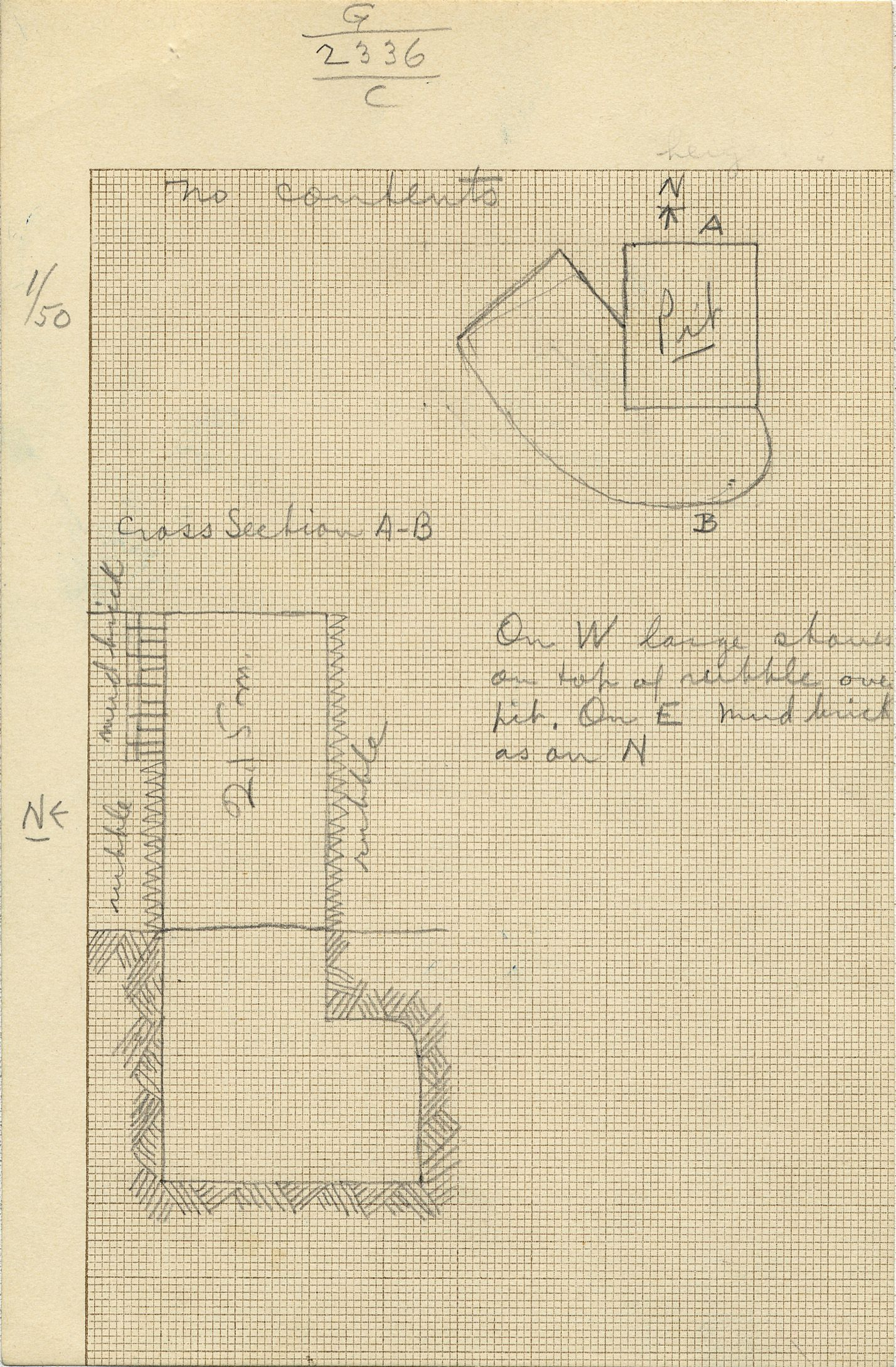 Maps and plans: G 2336, Shaft C