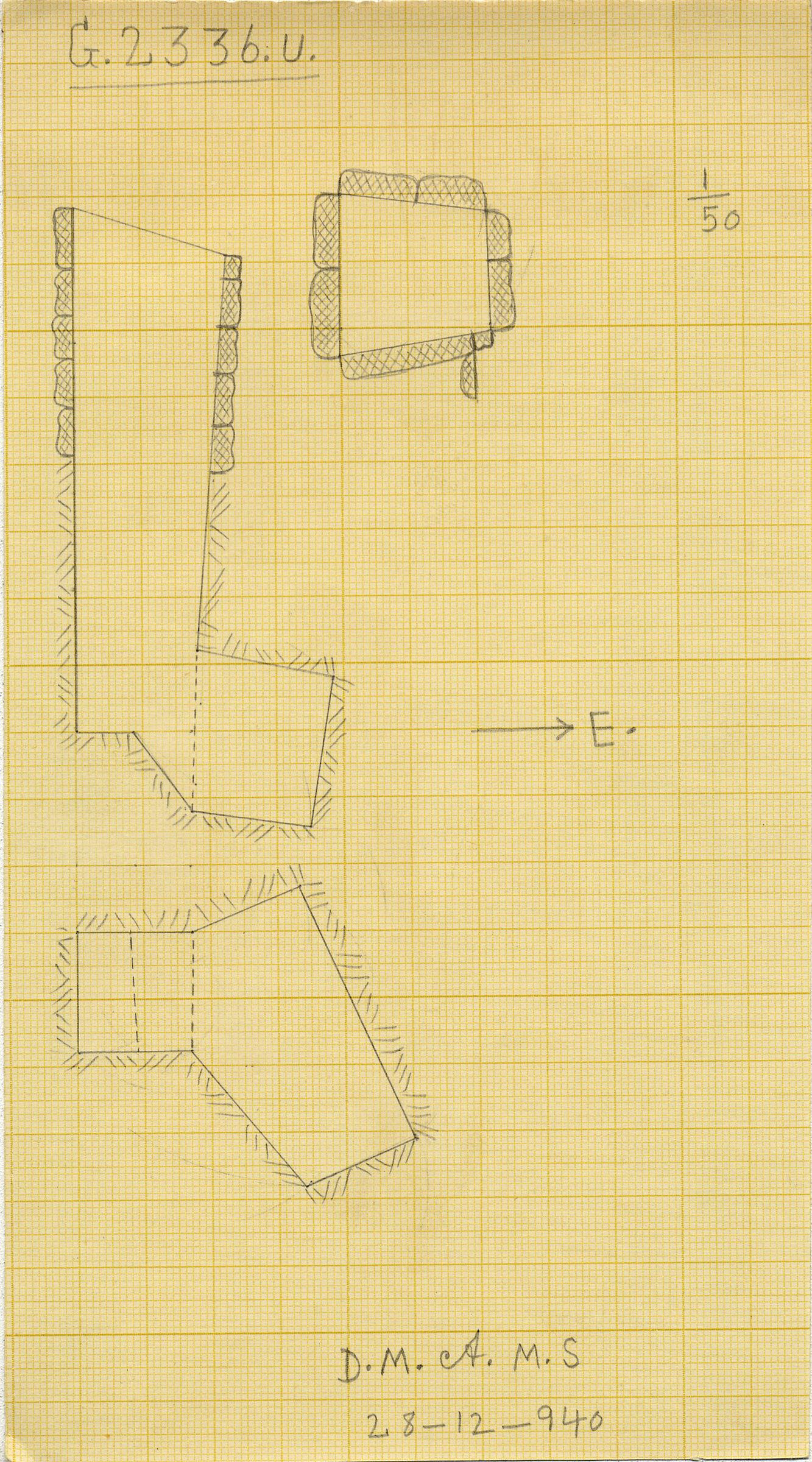 Maps and plans: G 2336, Shaft U