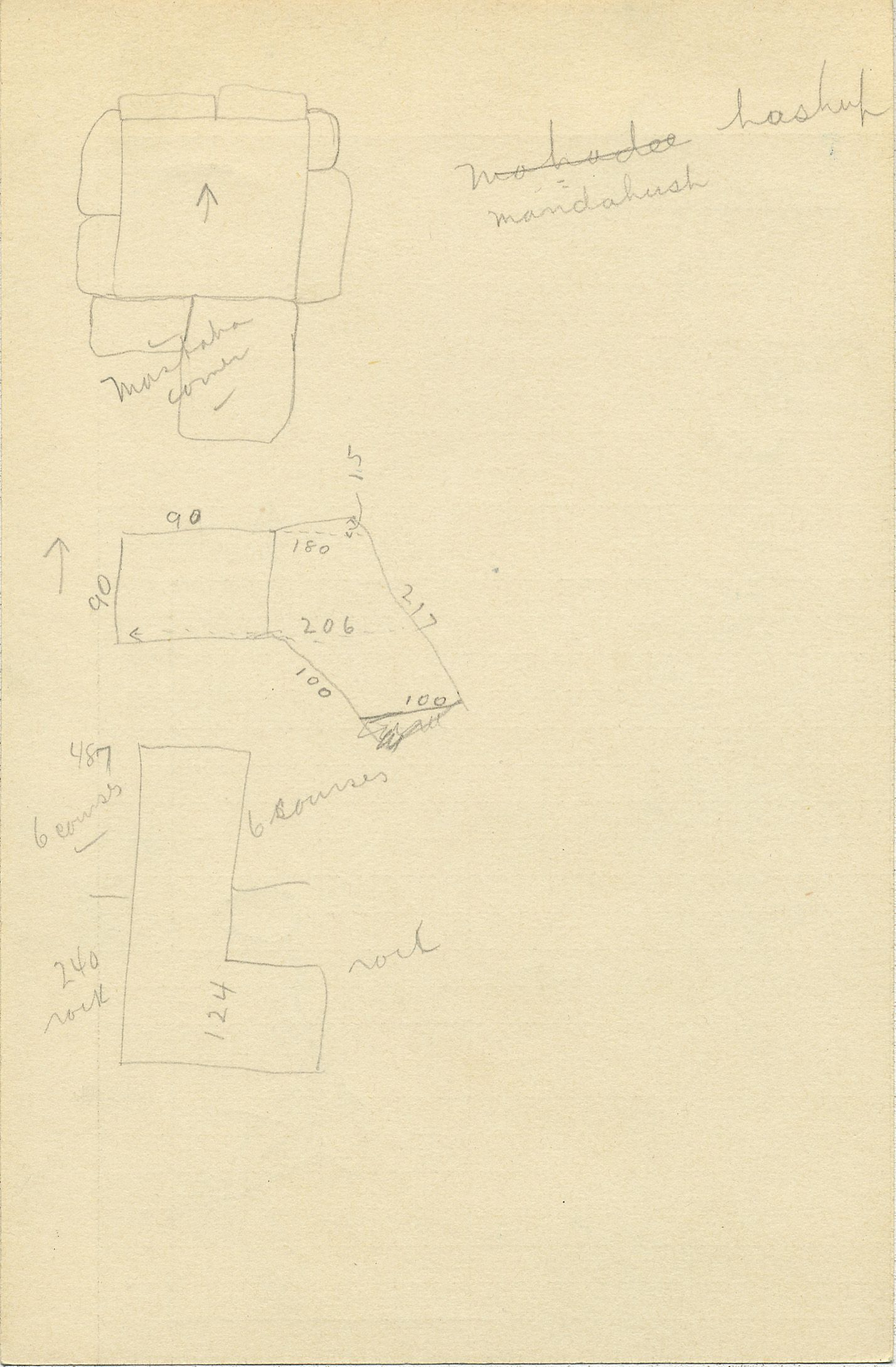 Maps and plans: G 2336, Shaft U, notes