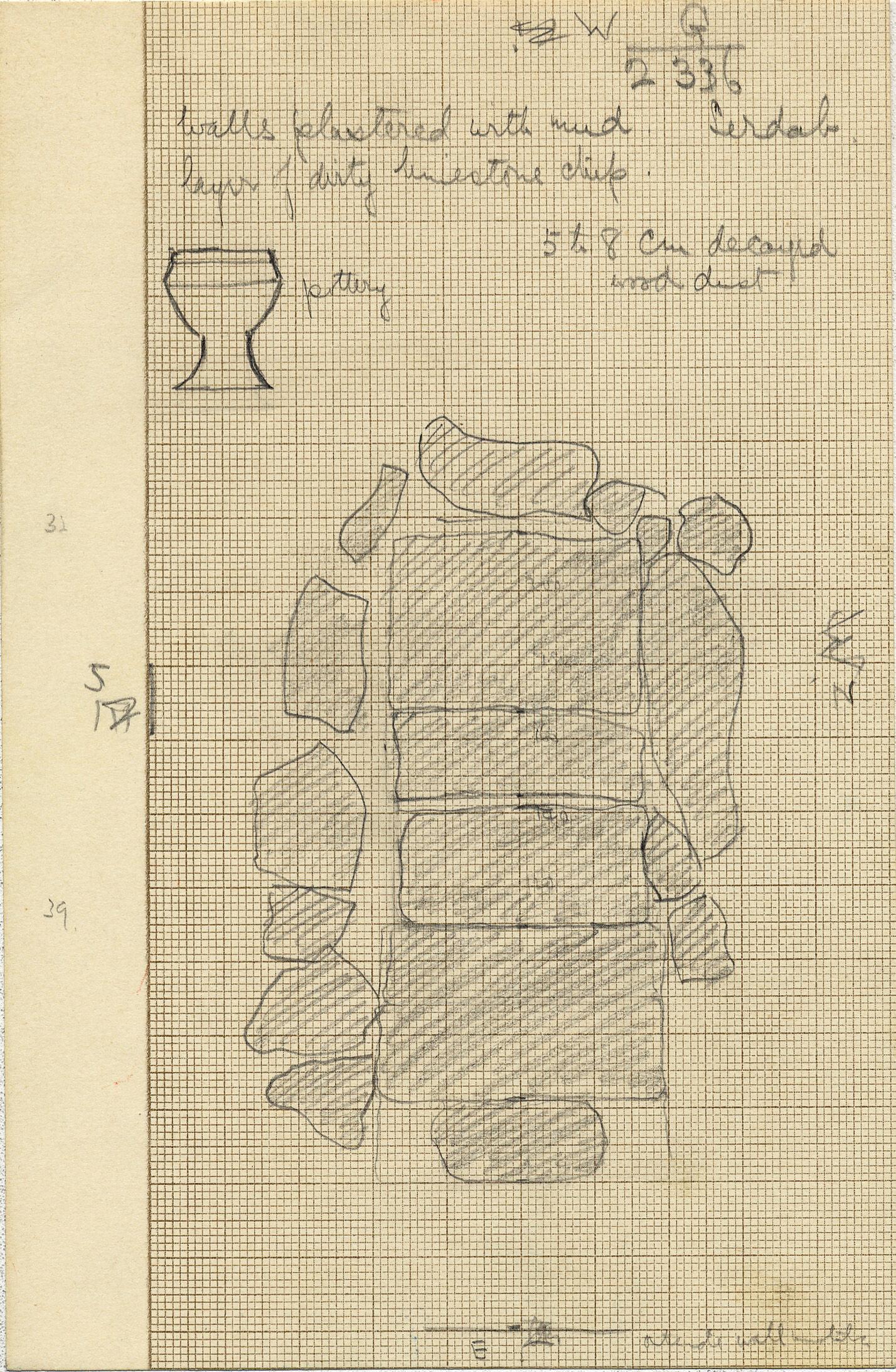 Maps and plans: G 2336, Serdab 1