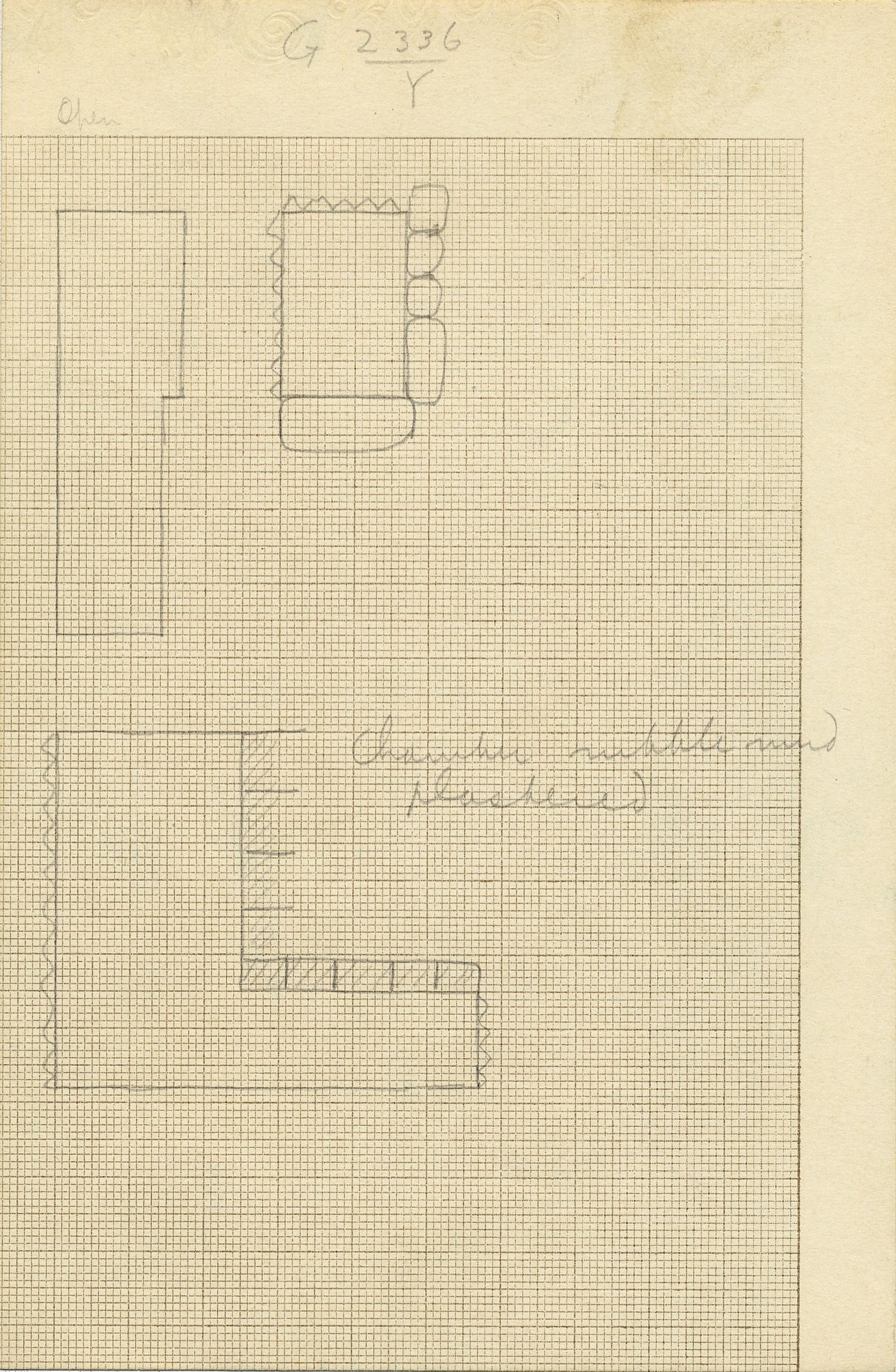 Maps and plans: G 2336, Shaft Y