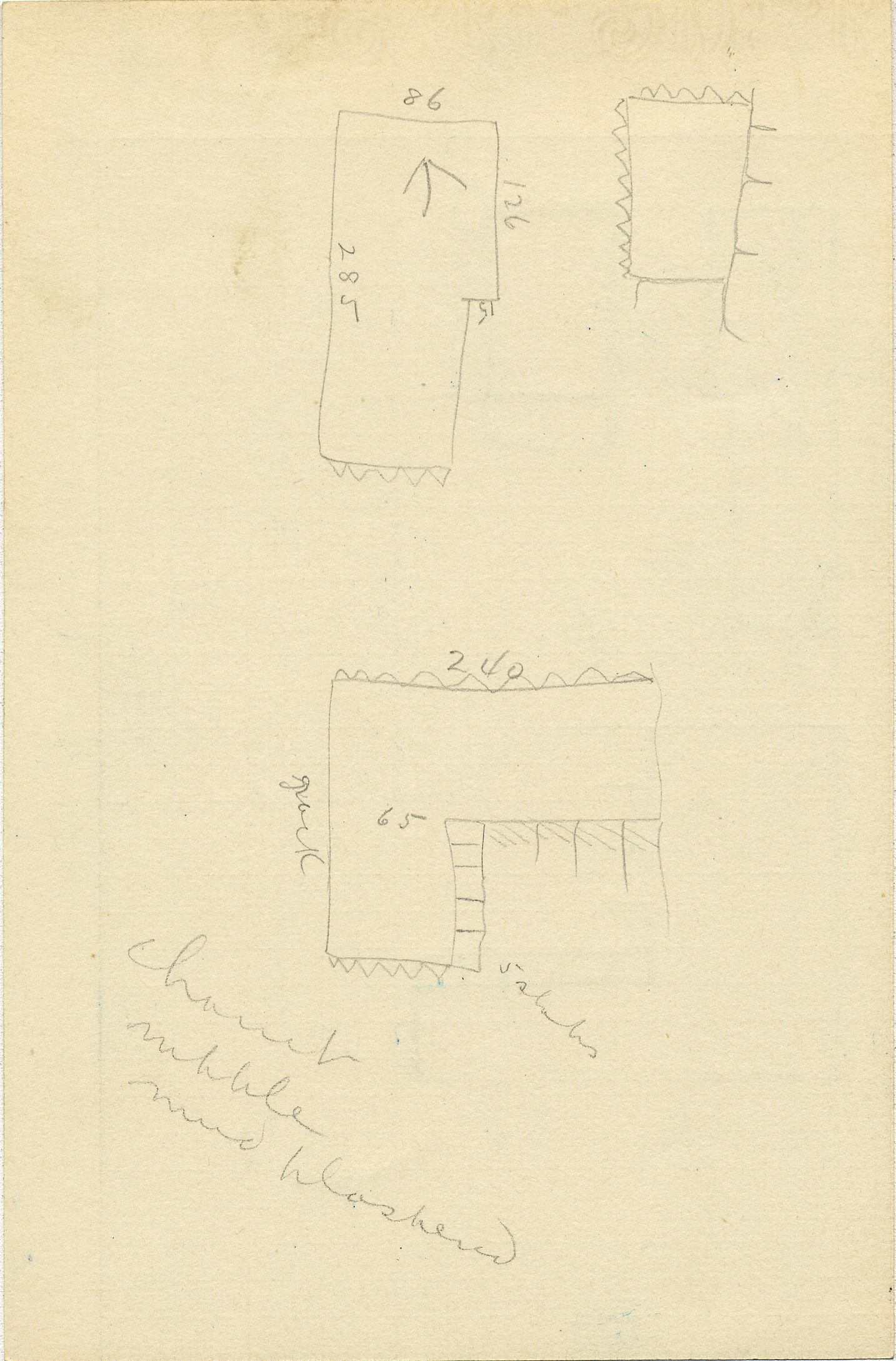 Maps and plans: G 2336, Shaft Y, notes