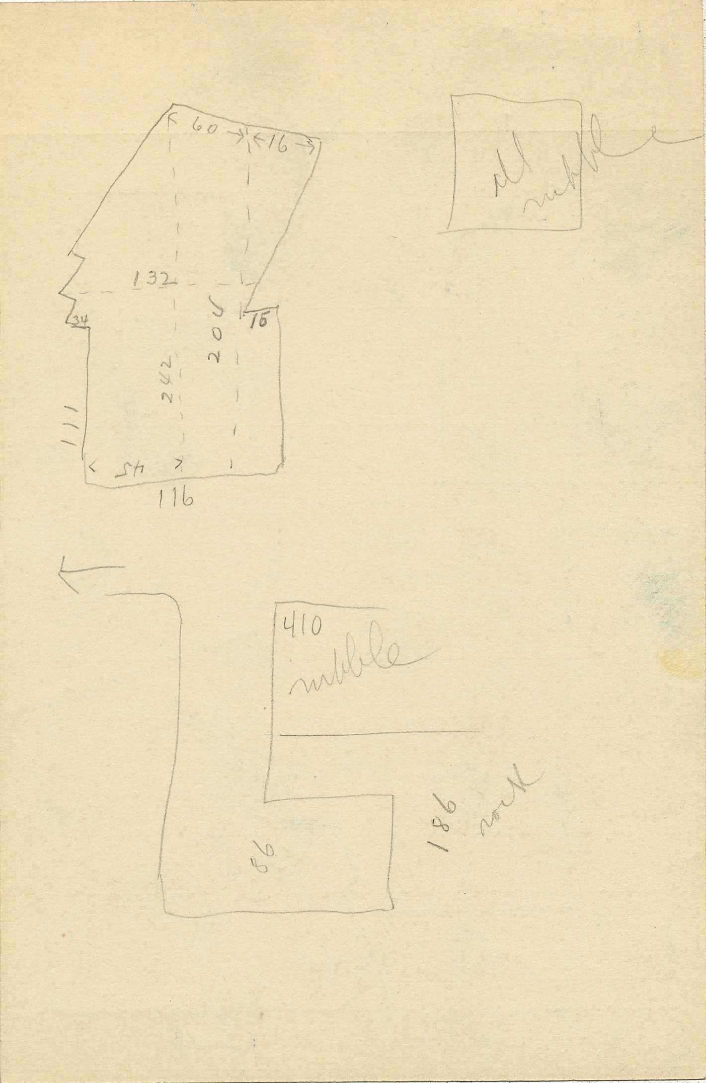 Maps and plans: G 2337, Shaft B, notes