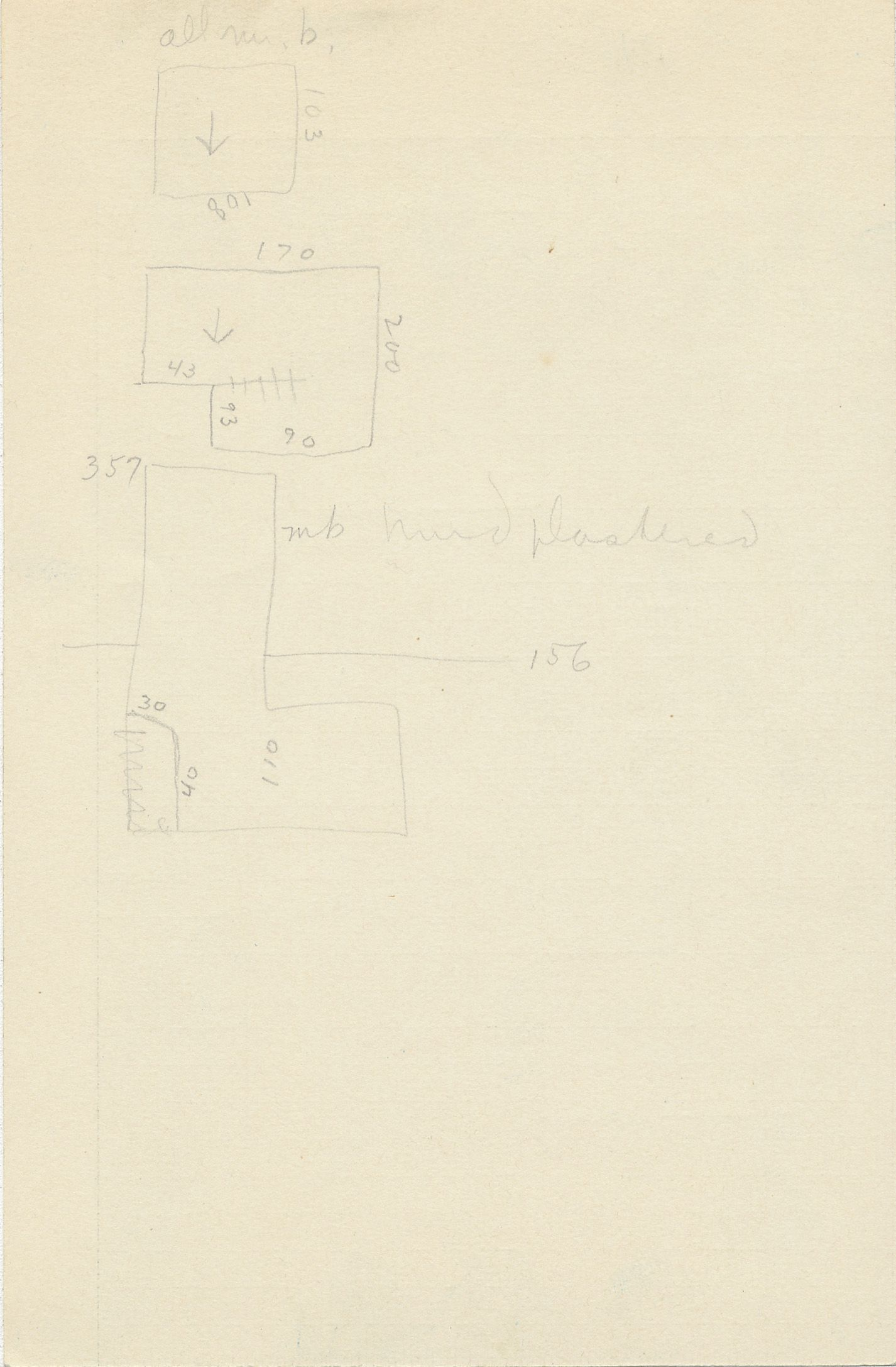 Maps and plans: G 2337, Shaft D, notes