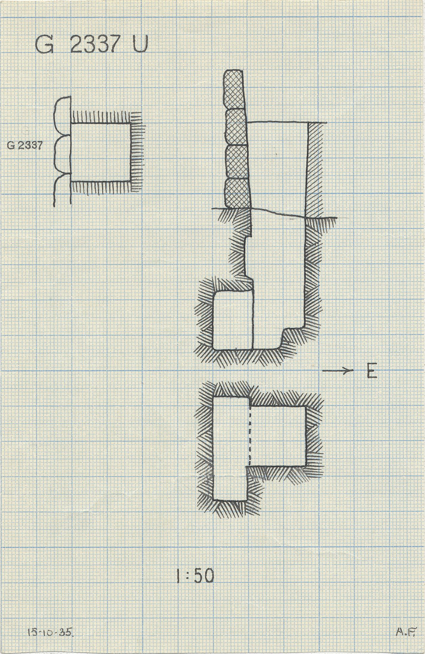 Maps and plans: G 2337, Shaft U