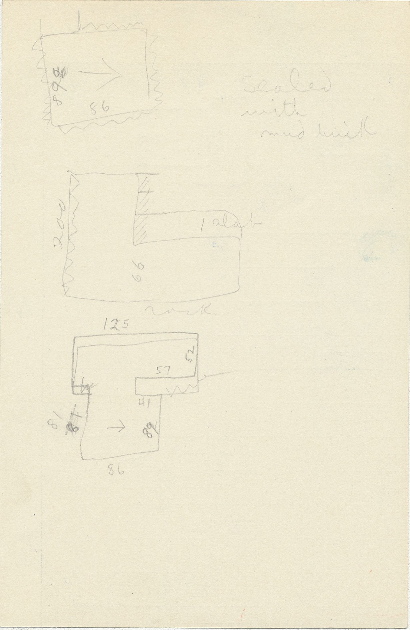 Maps and plans: G 2337, Shaft W, notes