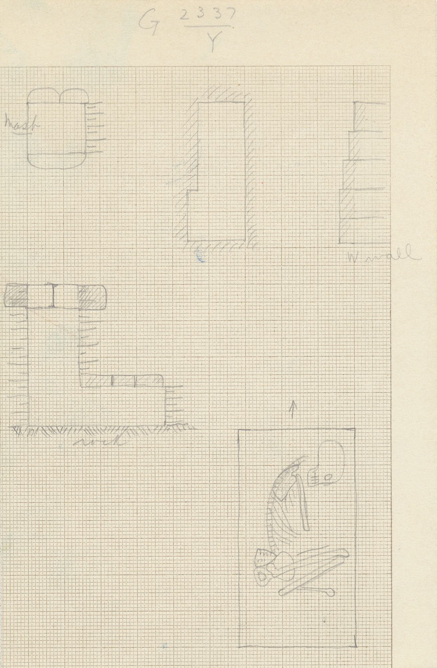 Maps and plans: G 2337, Shaft Y
