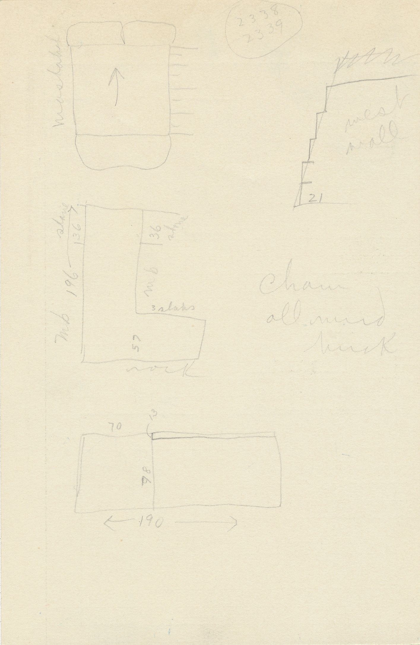 Maps and plans: G 2337, Shaft Y, notes