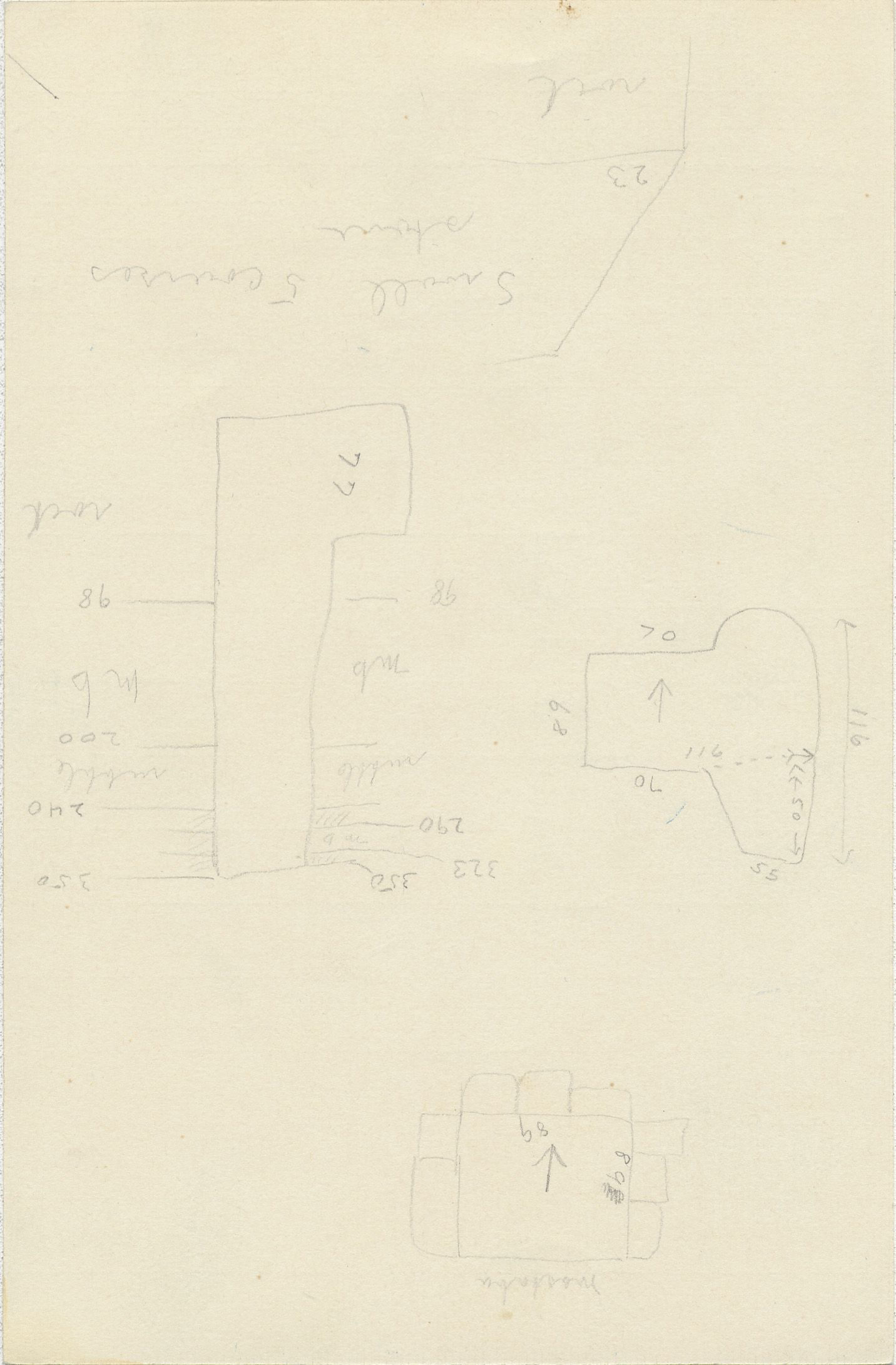 Maps and plans: G 2338, Shaft A, notes