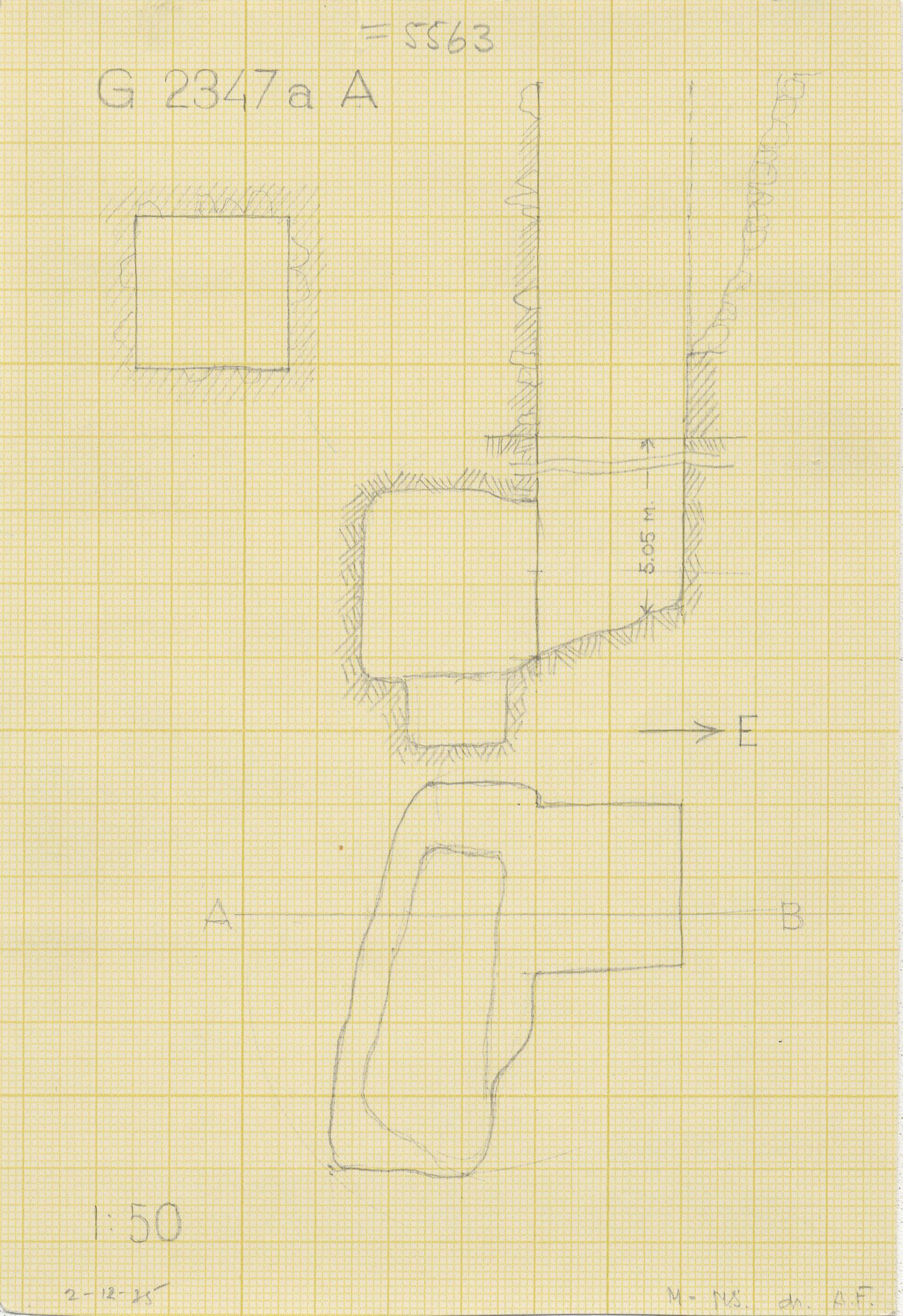 Maps and plans: G 2347a A = G 5563, Shaft A