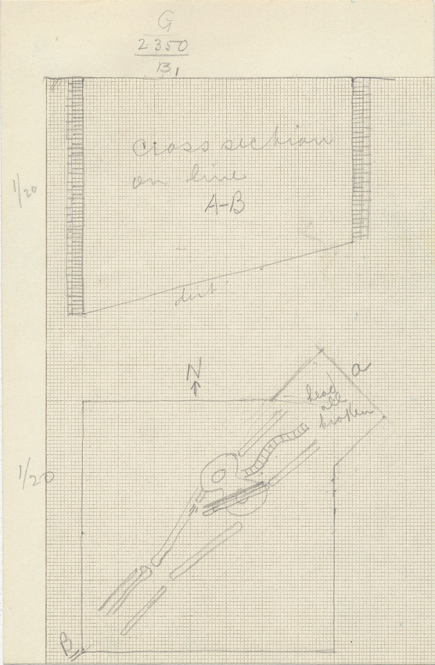 Maps and plans: G 2350 = G 5290, Shaft B1