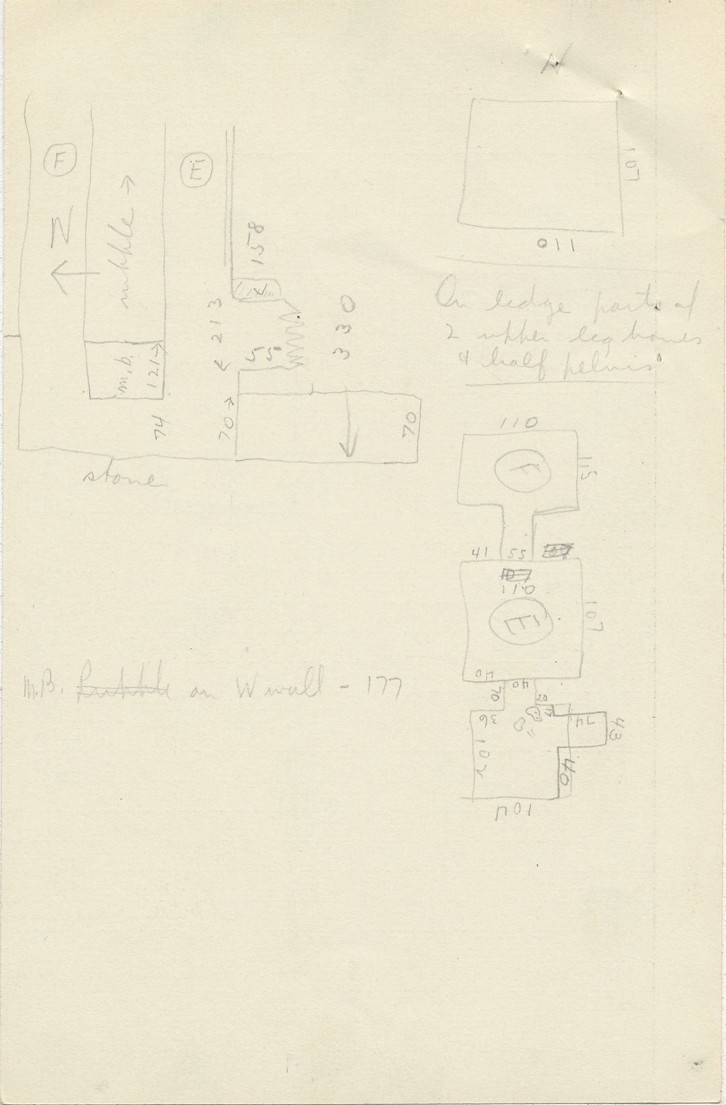 Maps and plans: G 2350 = G 5290, Shaft E and F, notes