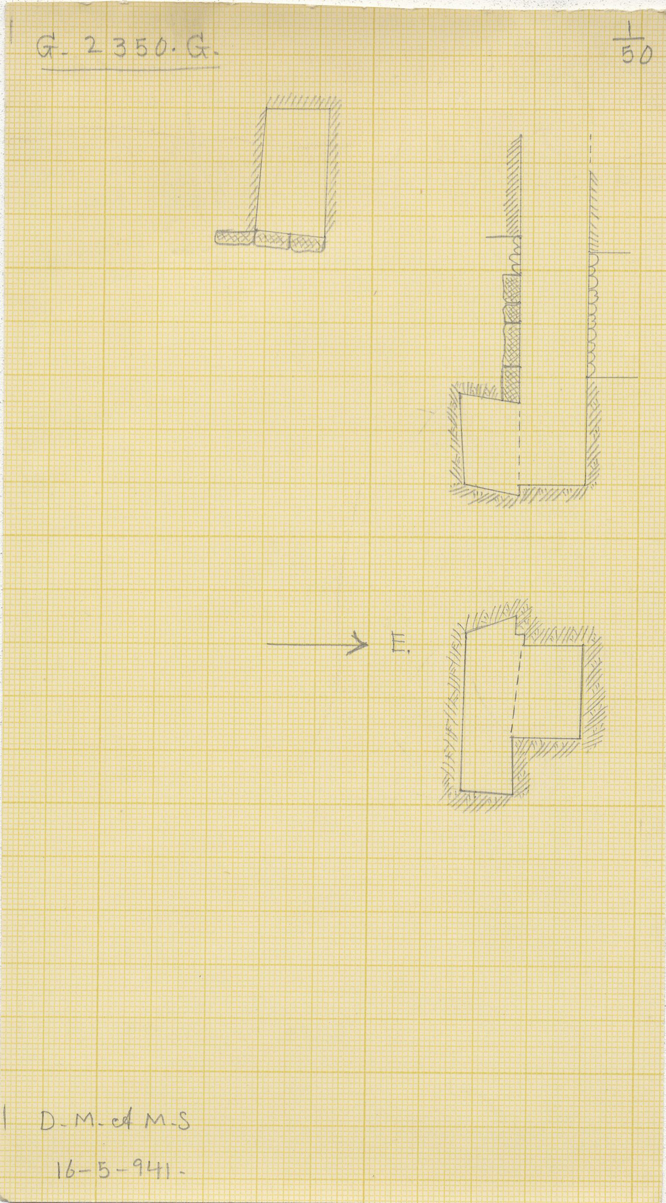 Maps and plans: G 2350 = G 5290, Shaft G