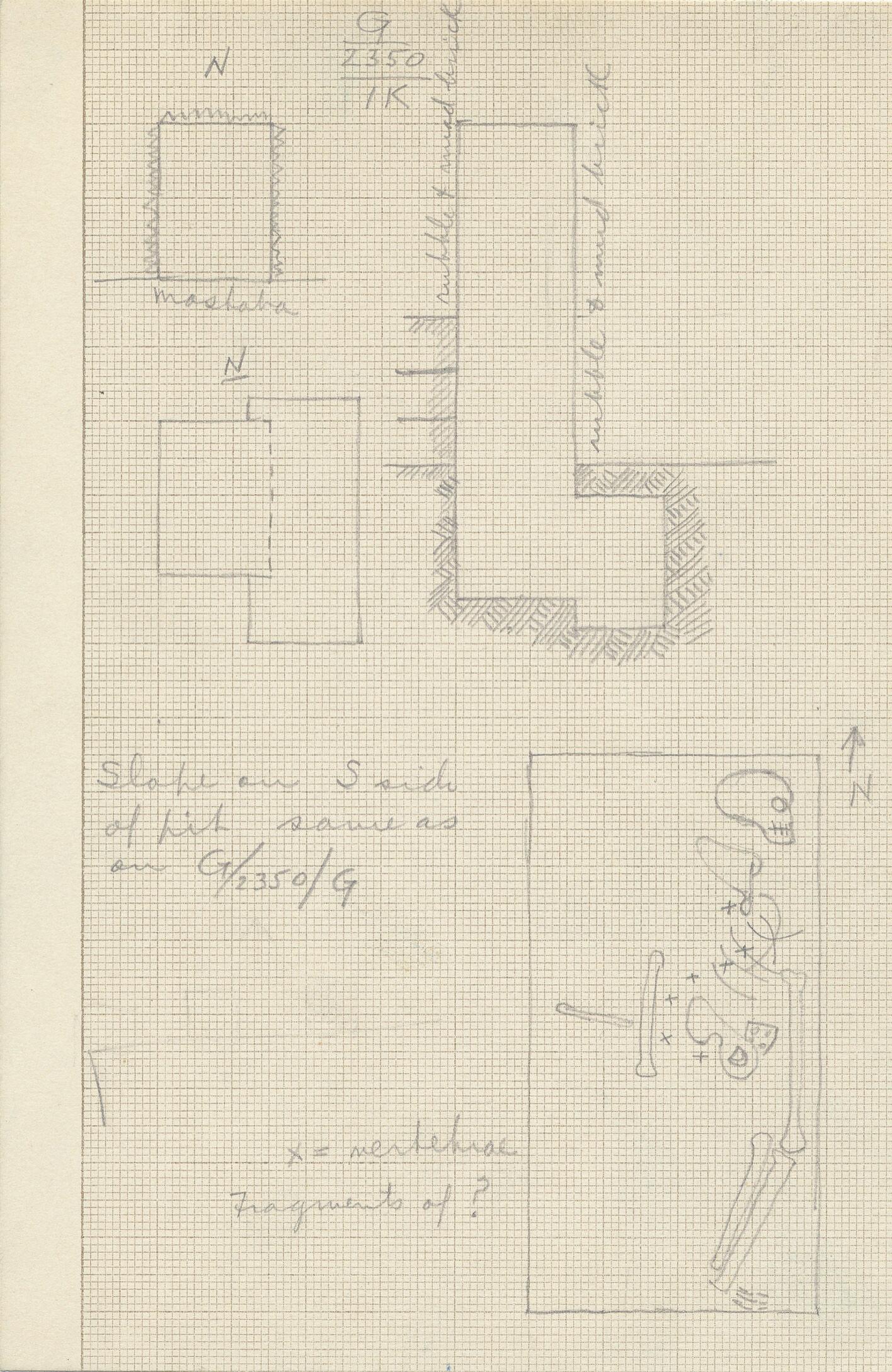 Maps and plans: G 2350 = G 5290, Shaft I K