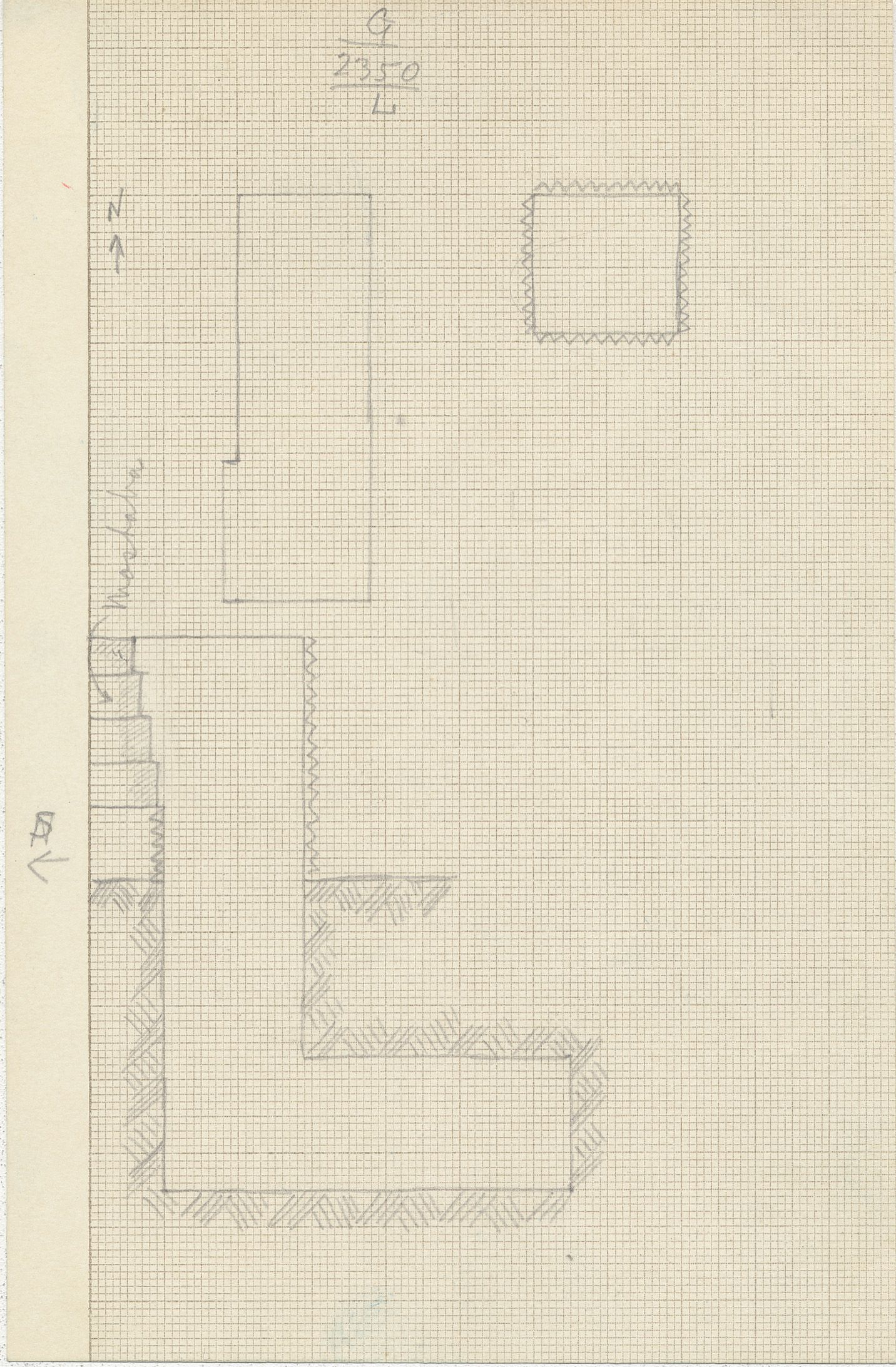 Maps and plans: G 2350 = G 5290, Shaft L
