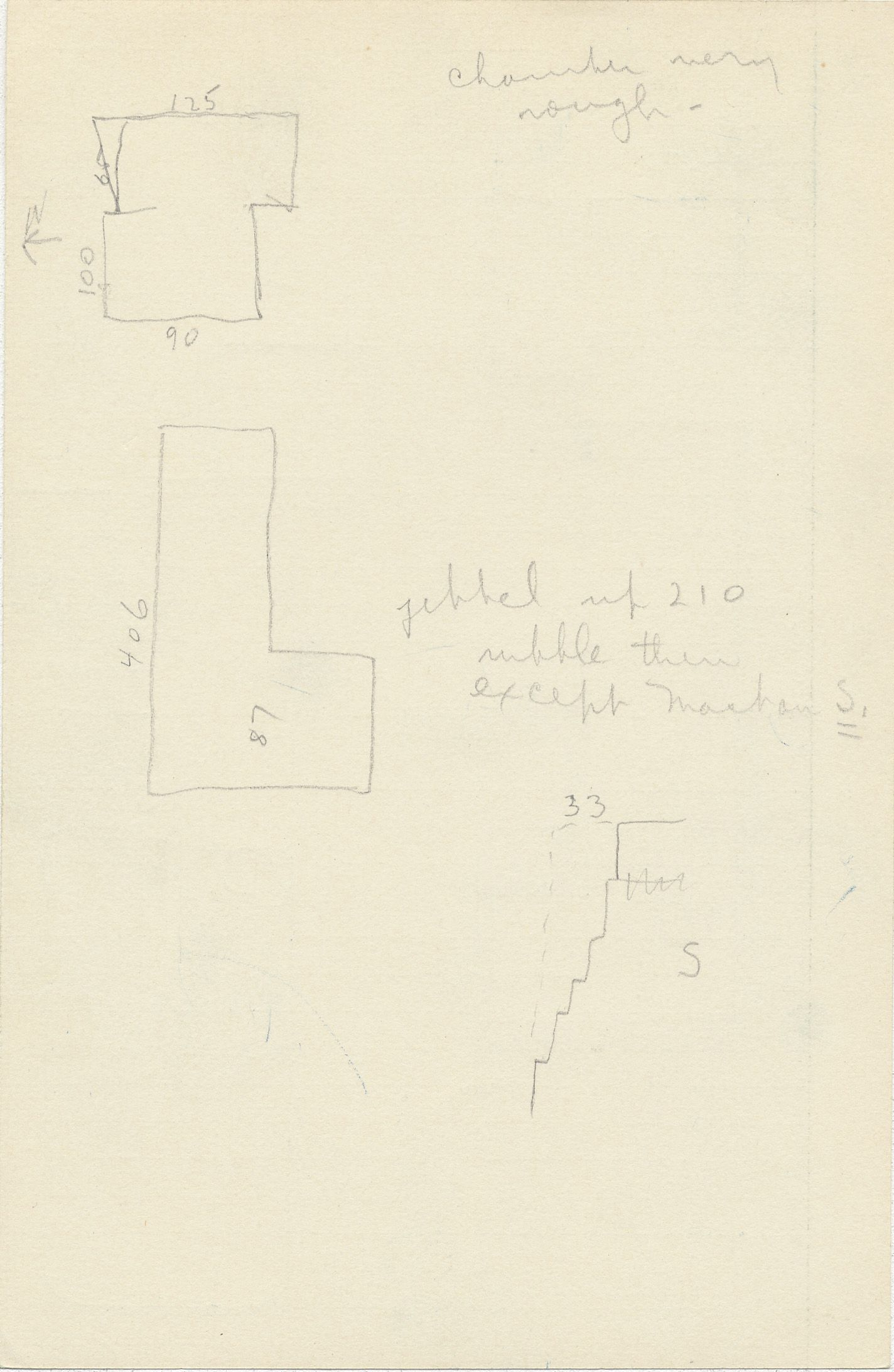 Maps and plans: G 2350 = G 5290, Shaft M, notes