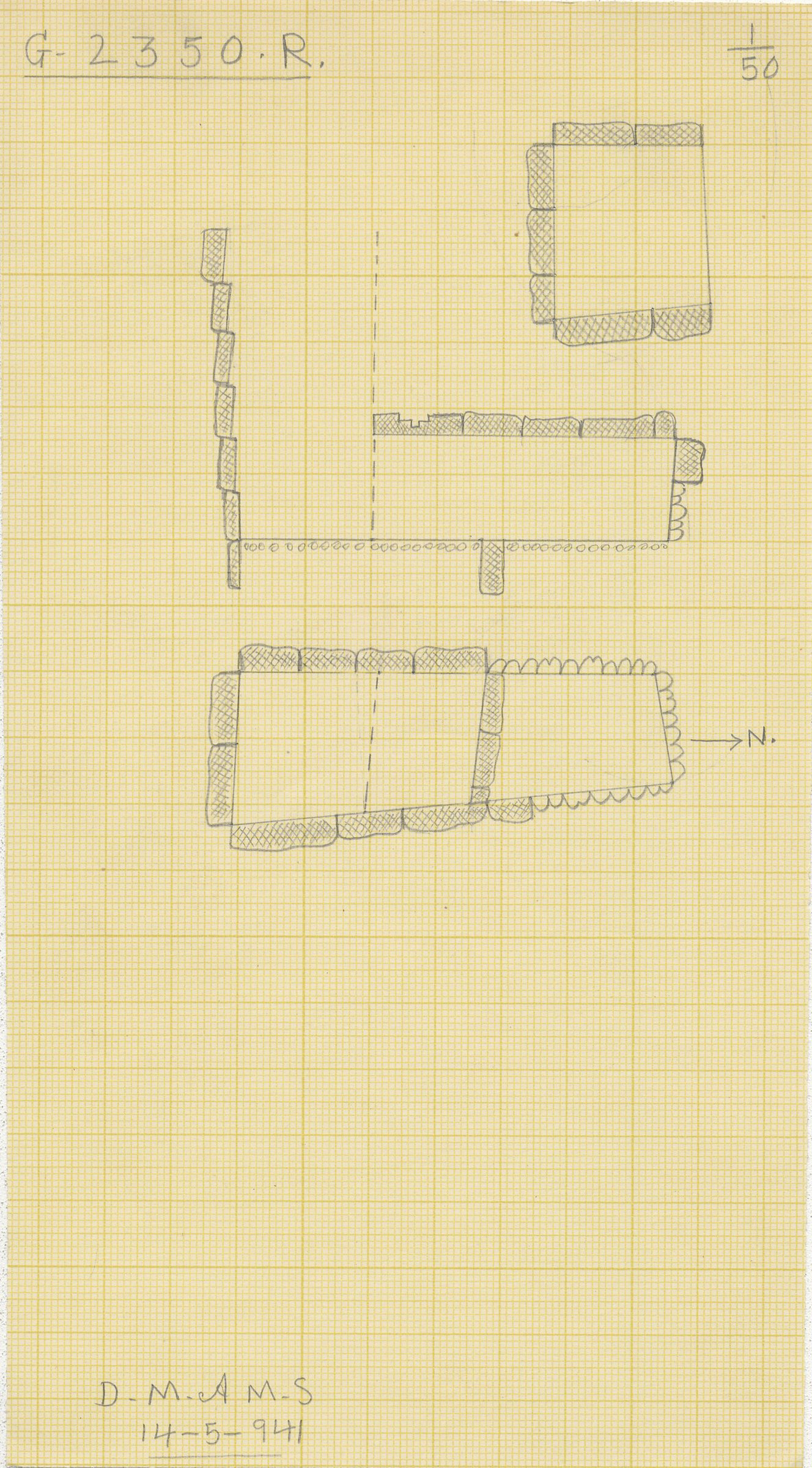 Maps and plans: G 2350 = G 5290, Shaft R